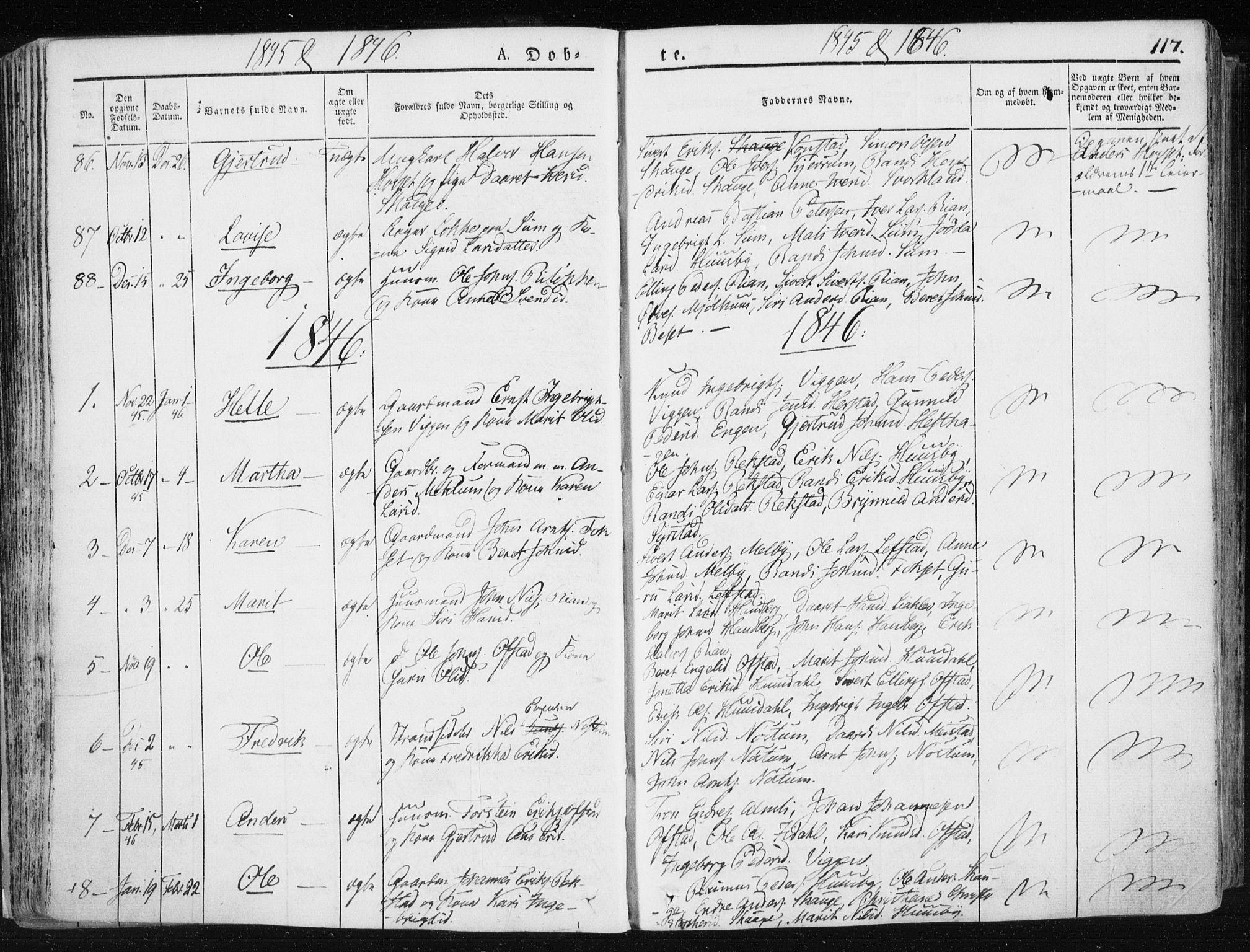 SAT, Ministerialprotokoller, klokkerbøker og fødselsregistre - Sør-Trøndelag, 665/L0771: Ministerialbok nr. 665A06, 1830-1856, s. 117