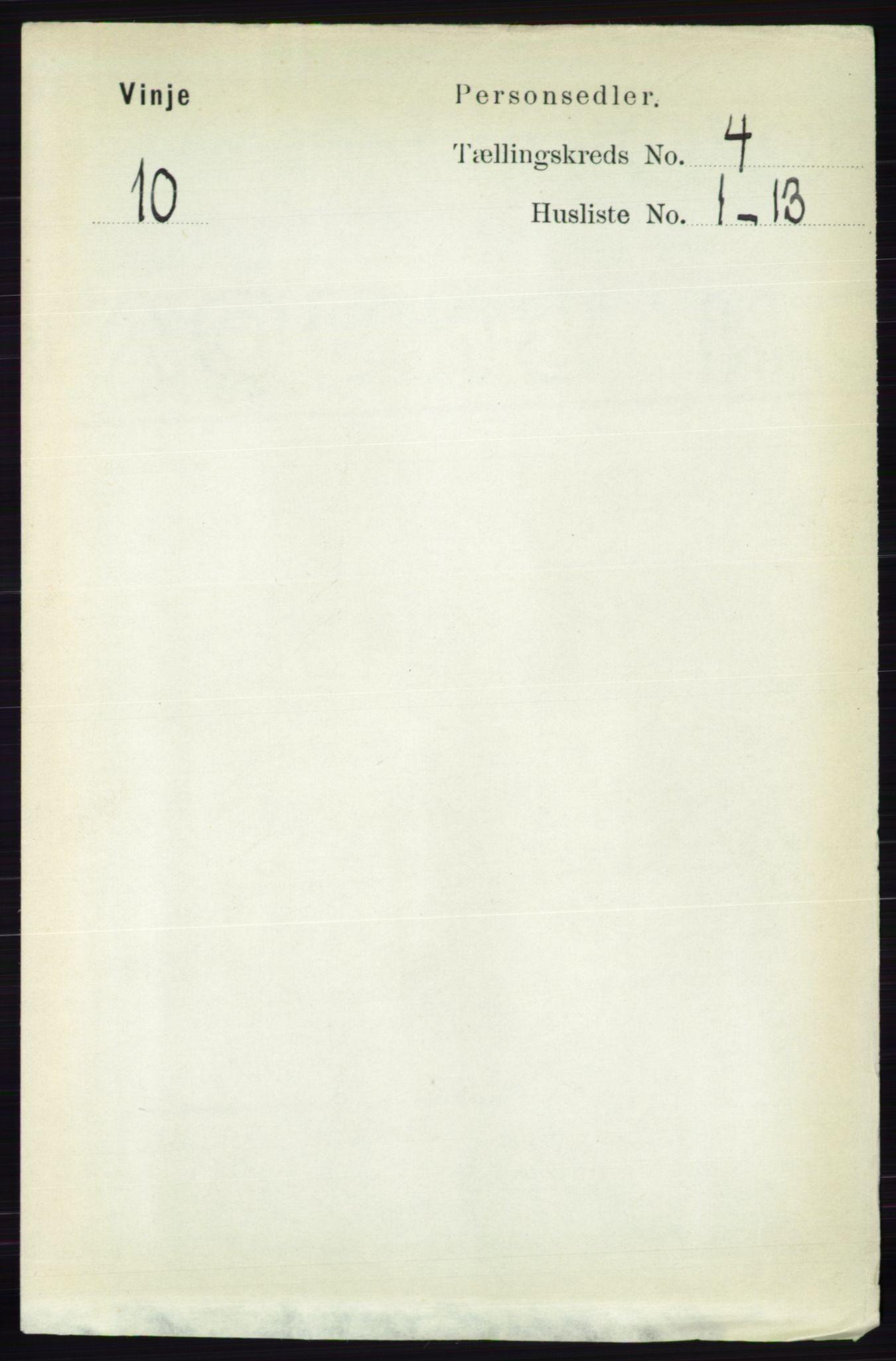 RA, Folketelling 1891 for 0834 Vinje herred, 1891, s. 920