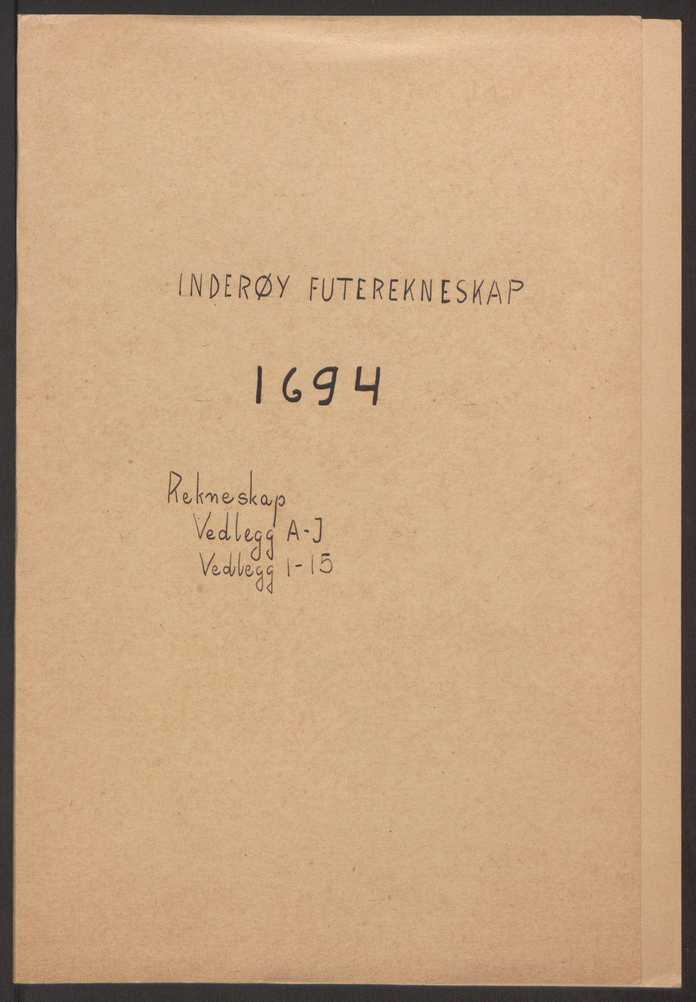 RA, Rentekammeret inntil 1814, Reviderte regnskaper, Fogderegnskap, R63/L4308: Fogderegnskap Inderøy, 1692-1694, s. 521