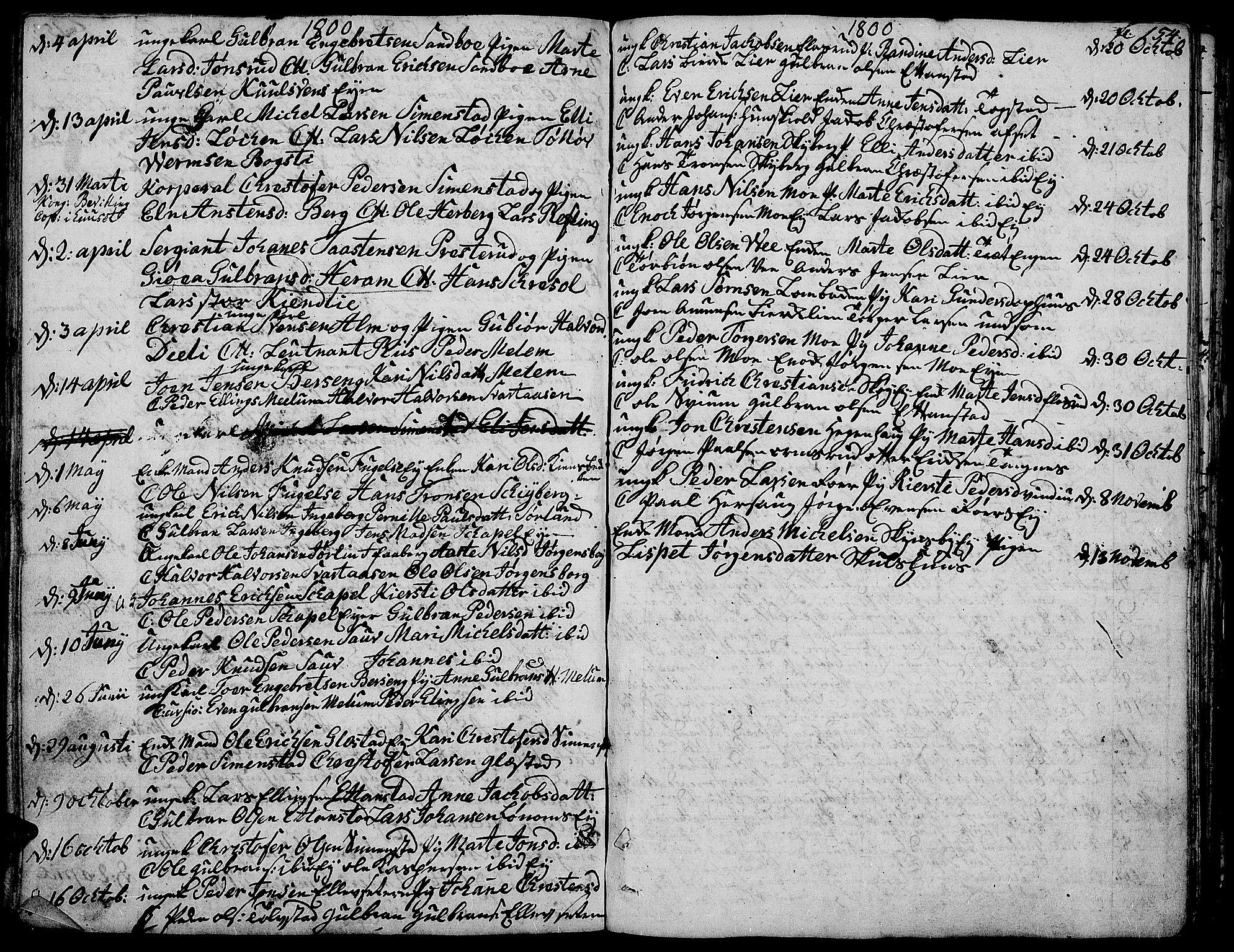 SAH, Ringsaker prestekontor, K/Ka/L0004: Ministerialbok nr. 4, 1799-1814, s. 154