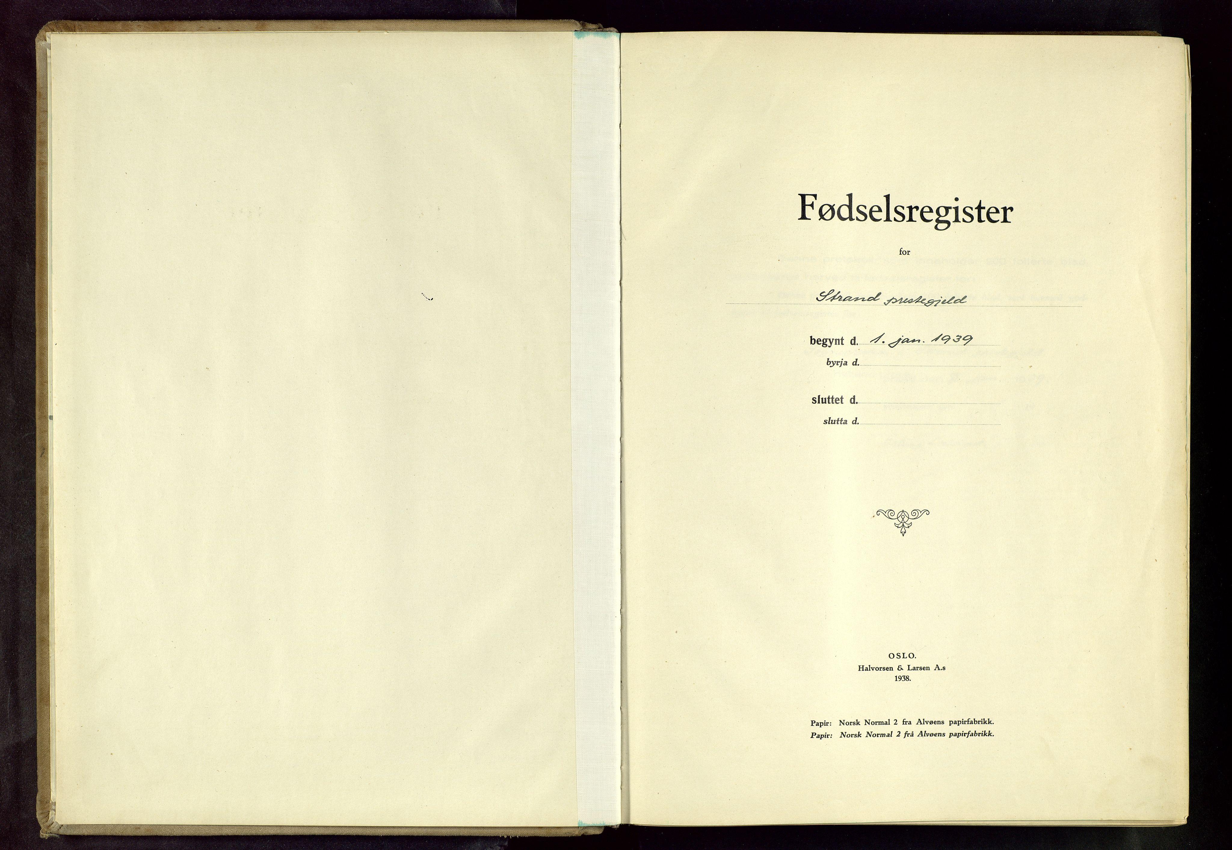 SAST, Strand sokneprestkontor, I/Id/L0002: Fødselsregister nr. 2, 1939-1957