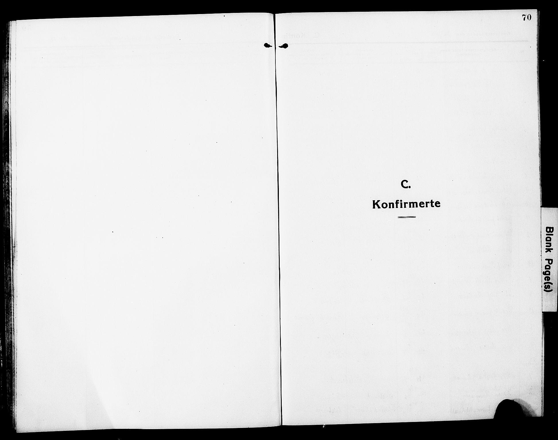 SAT, Ministerialprotokoller, klokkerbøker og fødselsregistre - Nord-Trøndelag, 780/L0653: Klokkerbok nr. 780C05, 1911-1927, s. 70