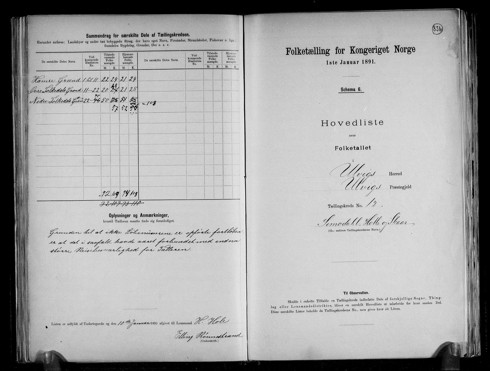 RA, Folketelling 1891 for 1233 Ulvik herred, 1891, s. 31