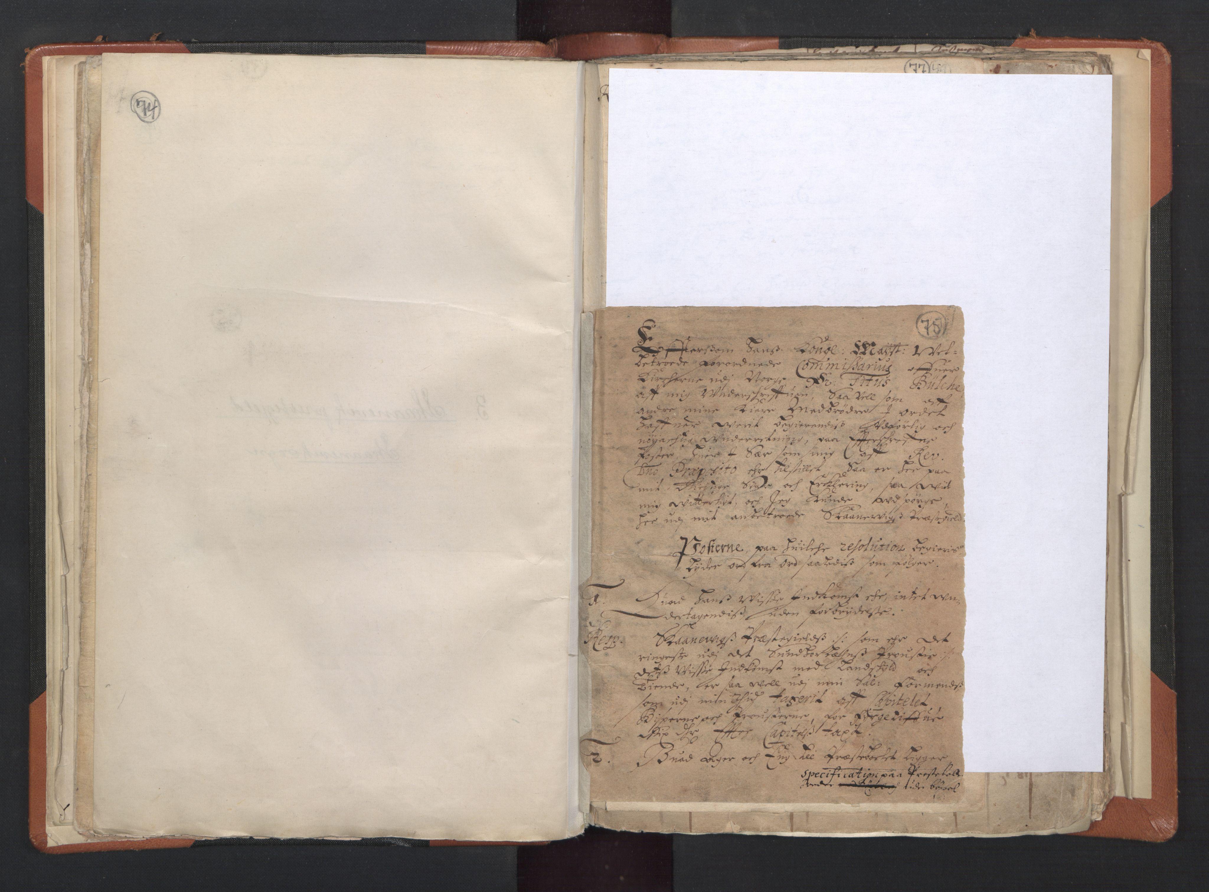 RA, Sogneprestenes manntall 1664-1666, nr. 20: Sunnhordland prosti, 1664-1666, s. 74-75
