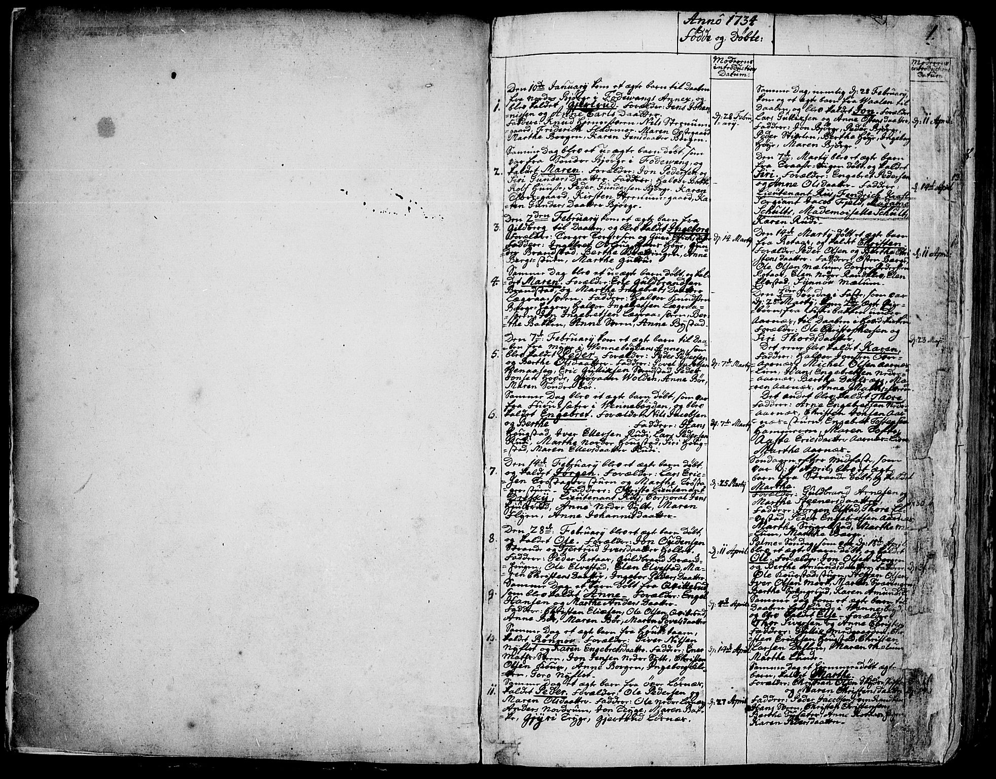 SAH, Ringebu prestekontor, Ministerialbok nr. 2, 1734-1780, s. 0-1