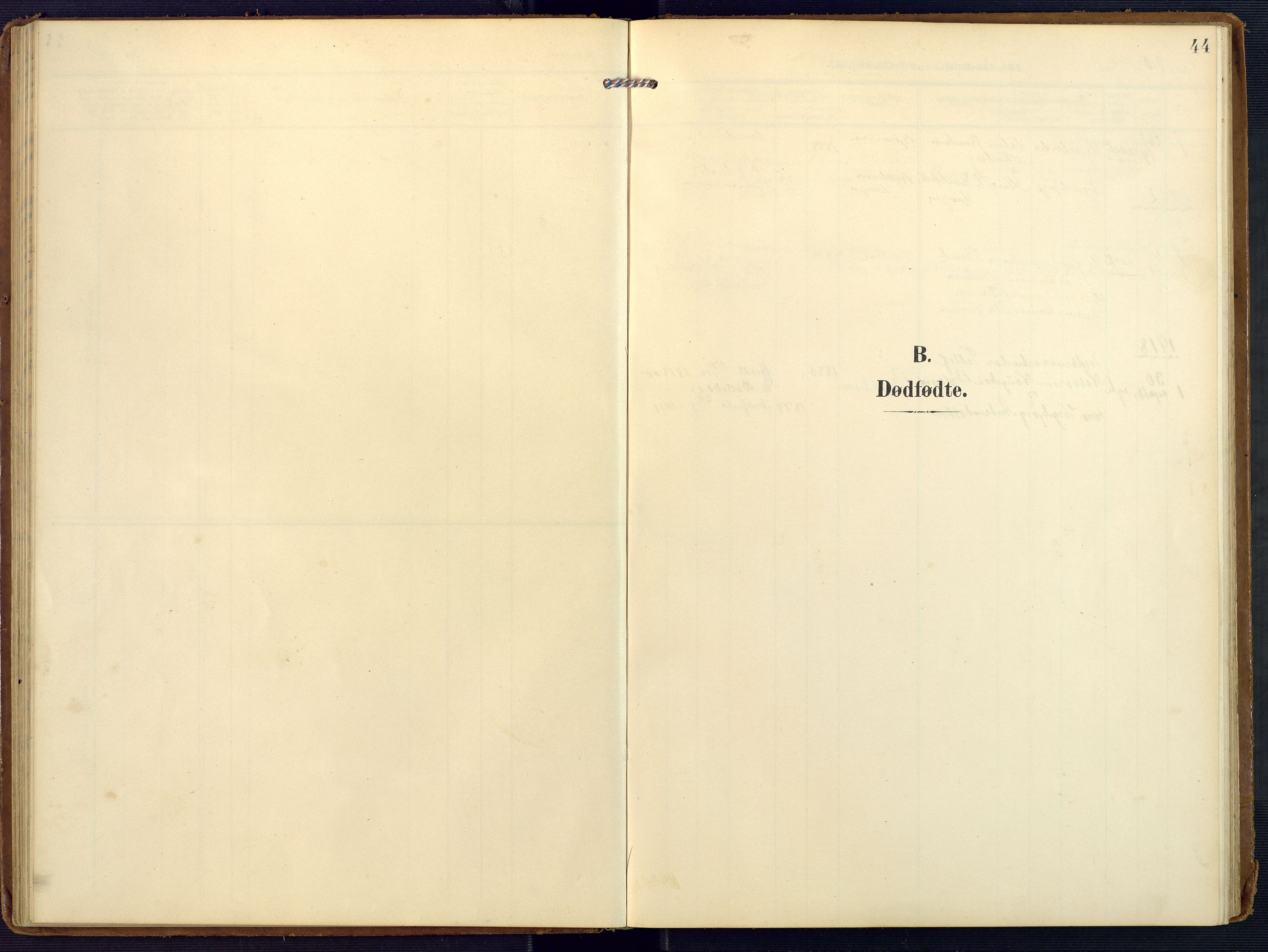 SAK, Valle sokneprestkontor, F/Fa/Faa/L0002: Ministerialbok nr. A 2, 1907-1919, s. 44