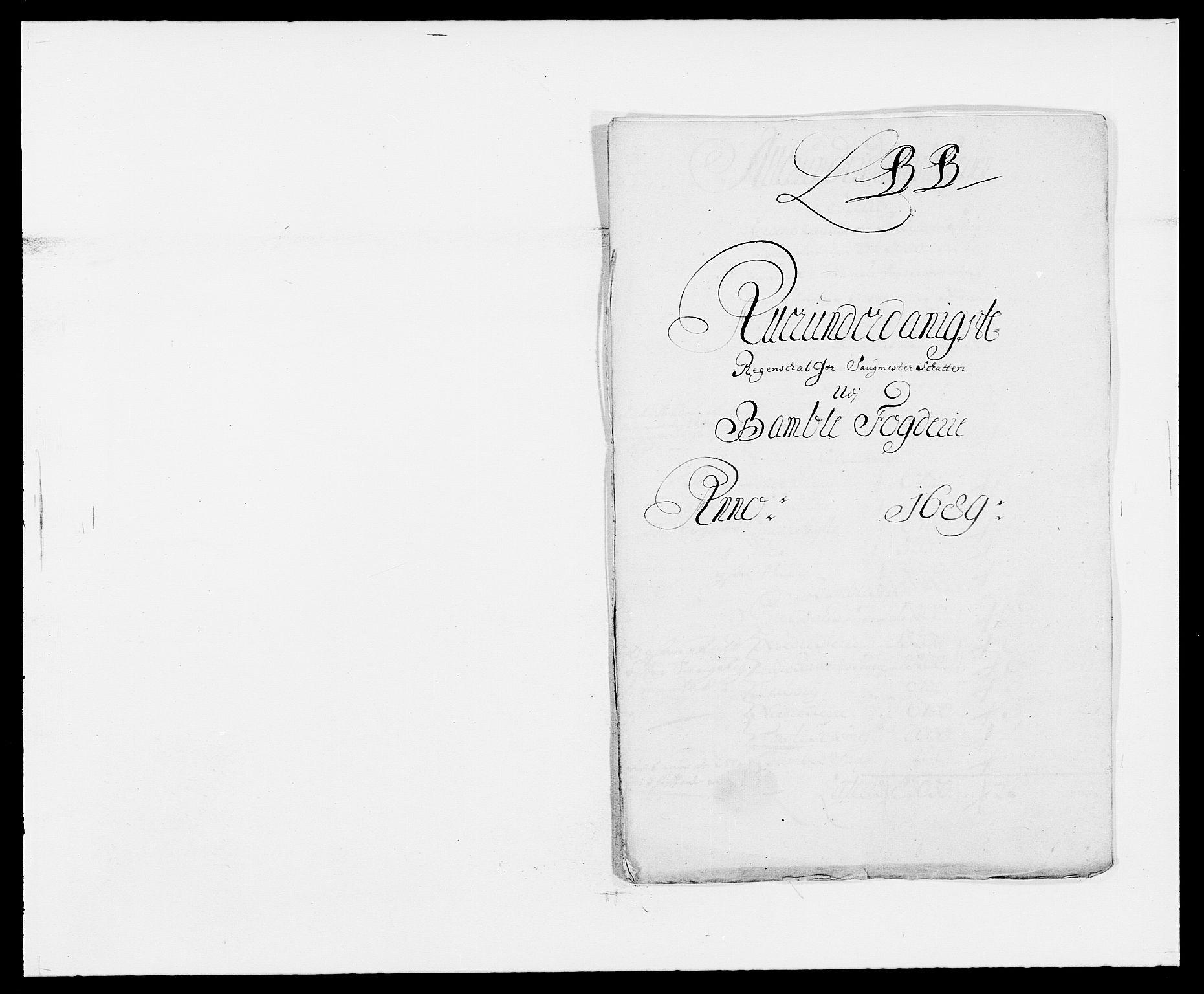 RA, Rentekammeret inntil 1814, Reviderte regnskaper, Fogderegnskap, R34/L2051: Fogderegnskap Bamble, 1688-1691, s. 110