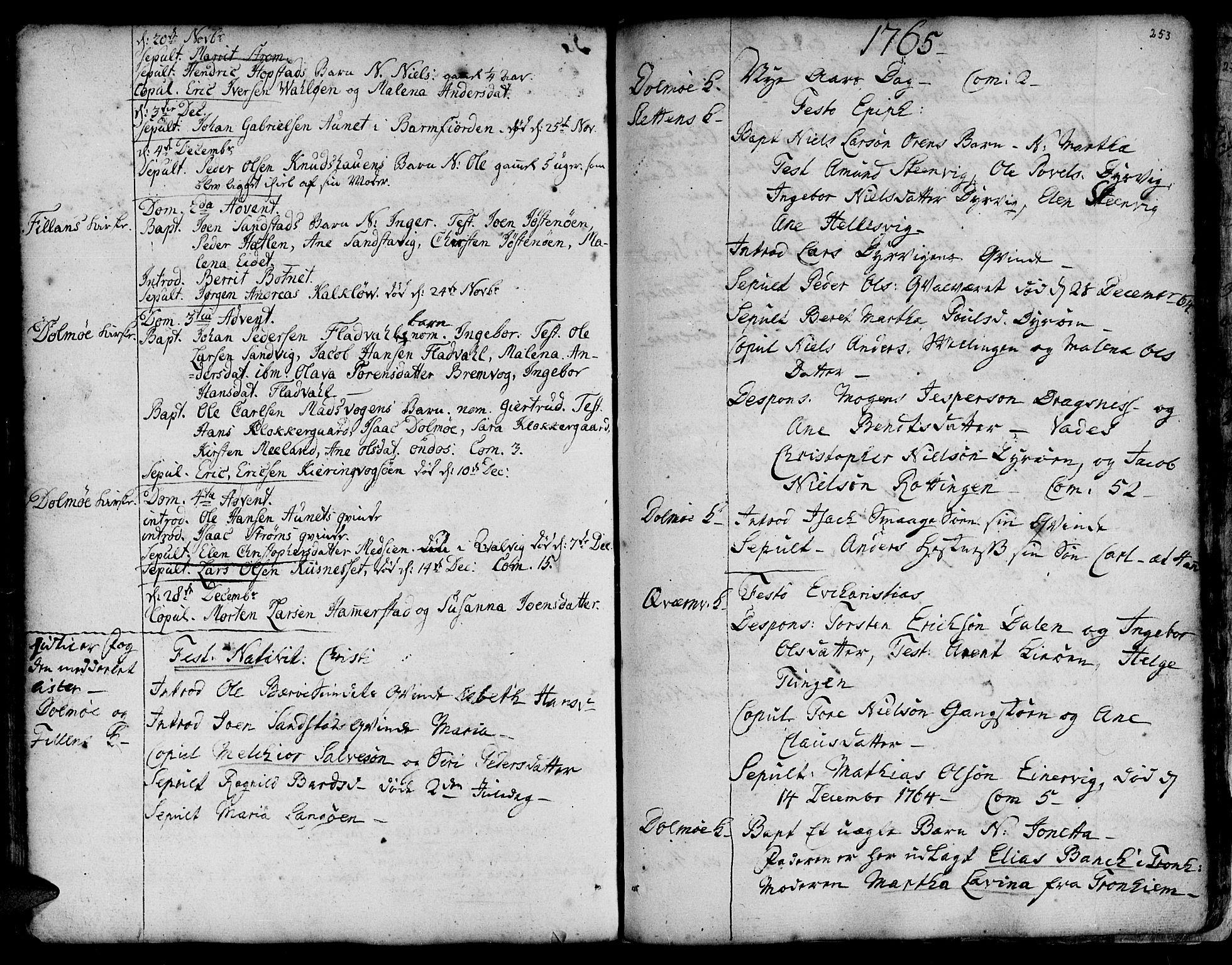 SAT, Ministerialprotokoller, klokkerbøker og fødselsregistre - Sør-Trøndelag, 634/L0525: Ministerialbok nr. 634A01, 1736-1775, s. 253