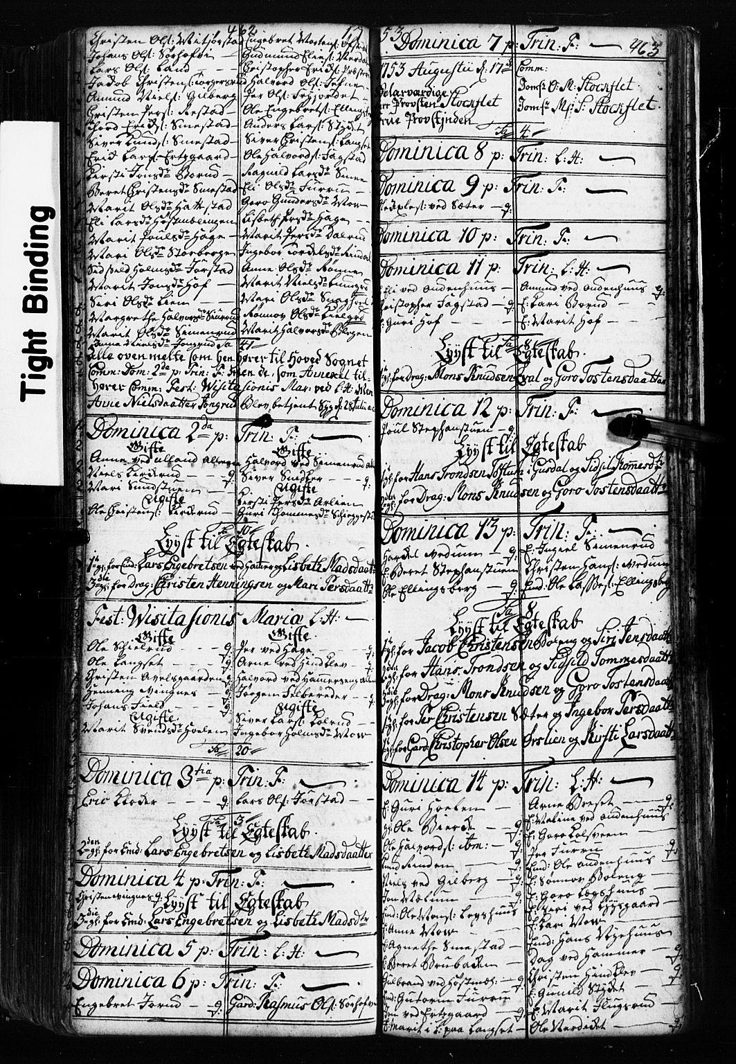 SAH, Fåberg prestekontor, Klokkerbok nr. 2, 1741-1756, s. 462-463