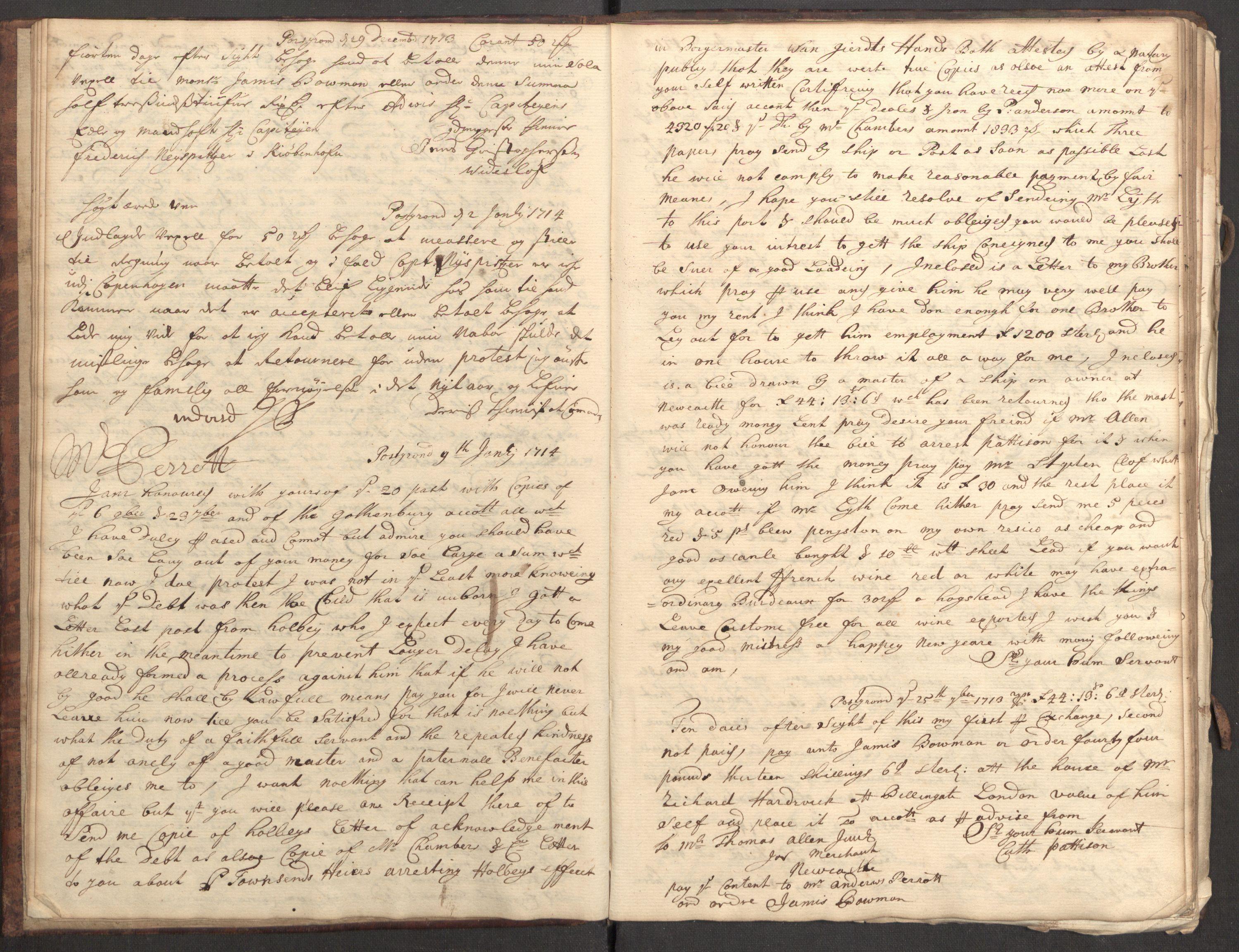 RA, Bowman, James, B/L0001, 1713-1714, s. 10