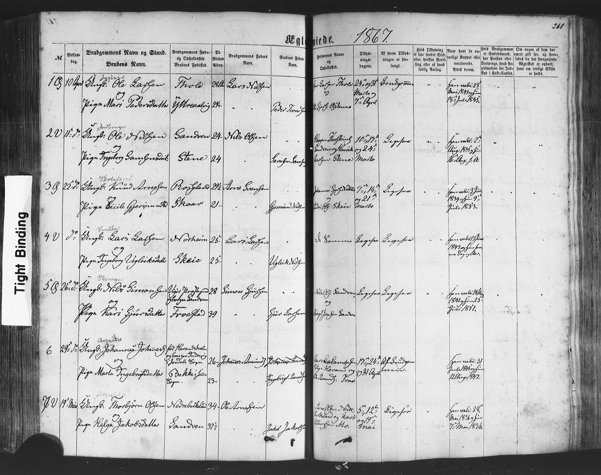 SAB, Kvam Sokneprestembete, H/Haa: Ministerialbok nr. A 9, 1864-1879, s. 263
