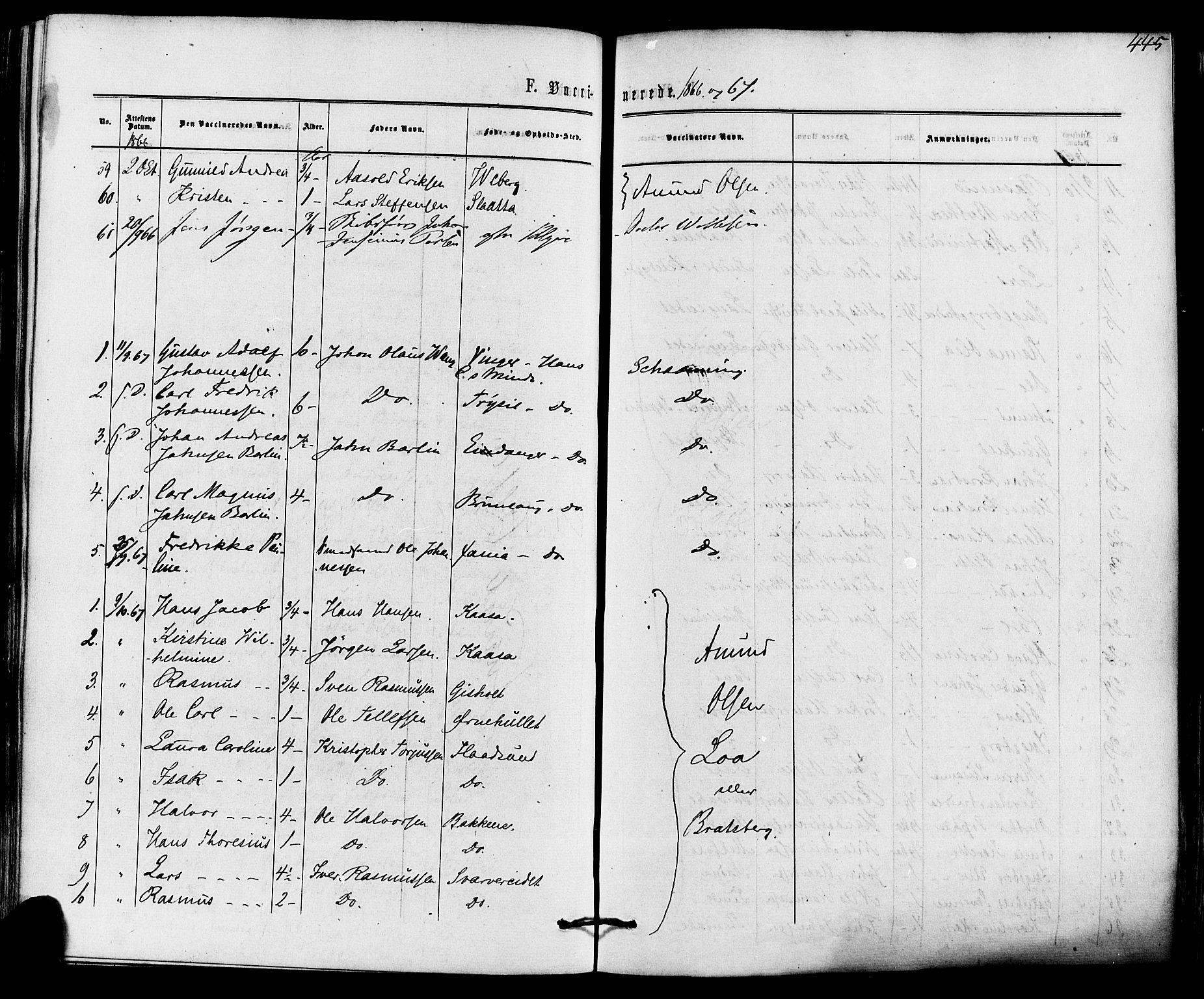 SAKO, Solum kirkebøker, F/Fa/L0008: Ministerialbok nr. I 8, 1865-1876, s. 445