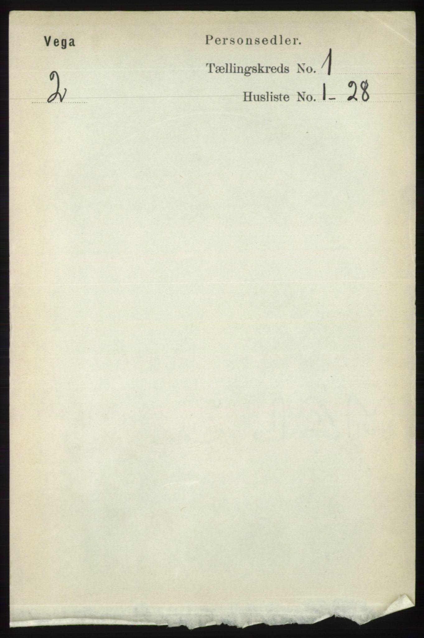 RA, Folketelling 1891 for 1815 Vega herred, 1891, s. 99