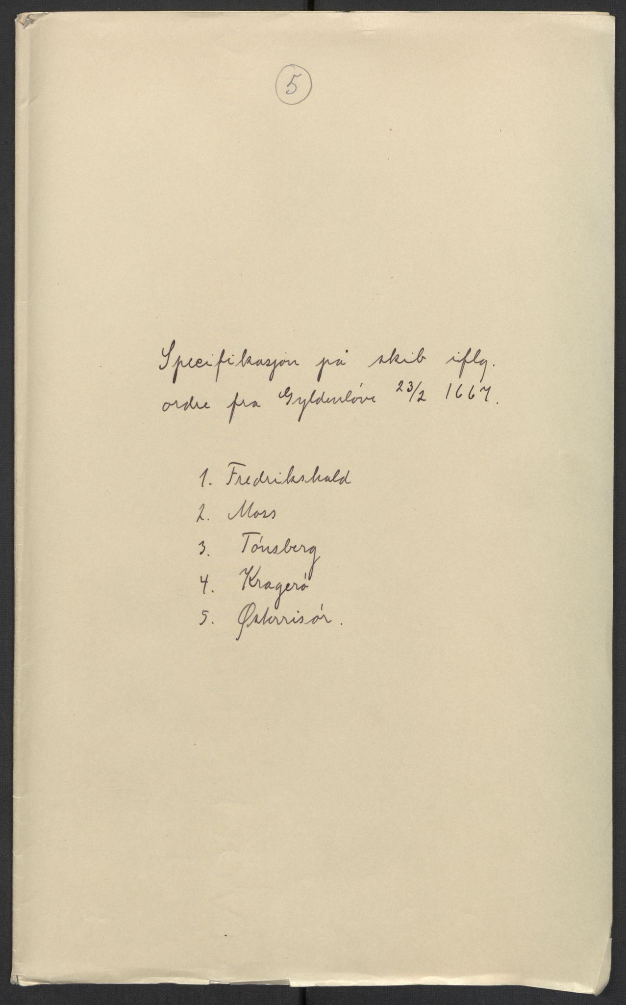 RA, Stattholderembetet 1572-1771, El/L0024: Forskjellige pakkesaker, 1667, s. 1