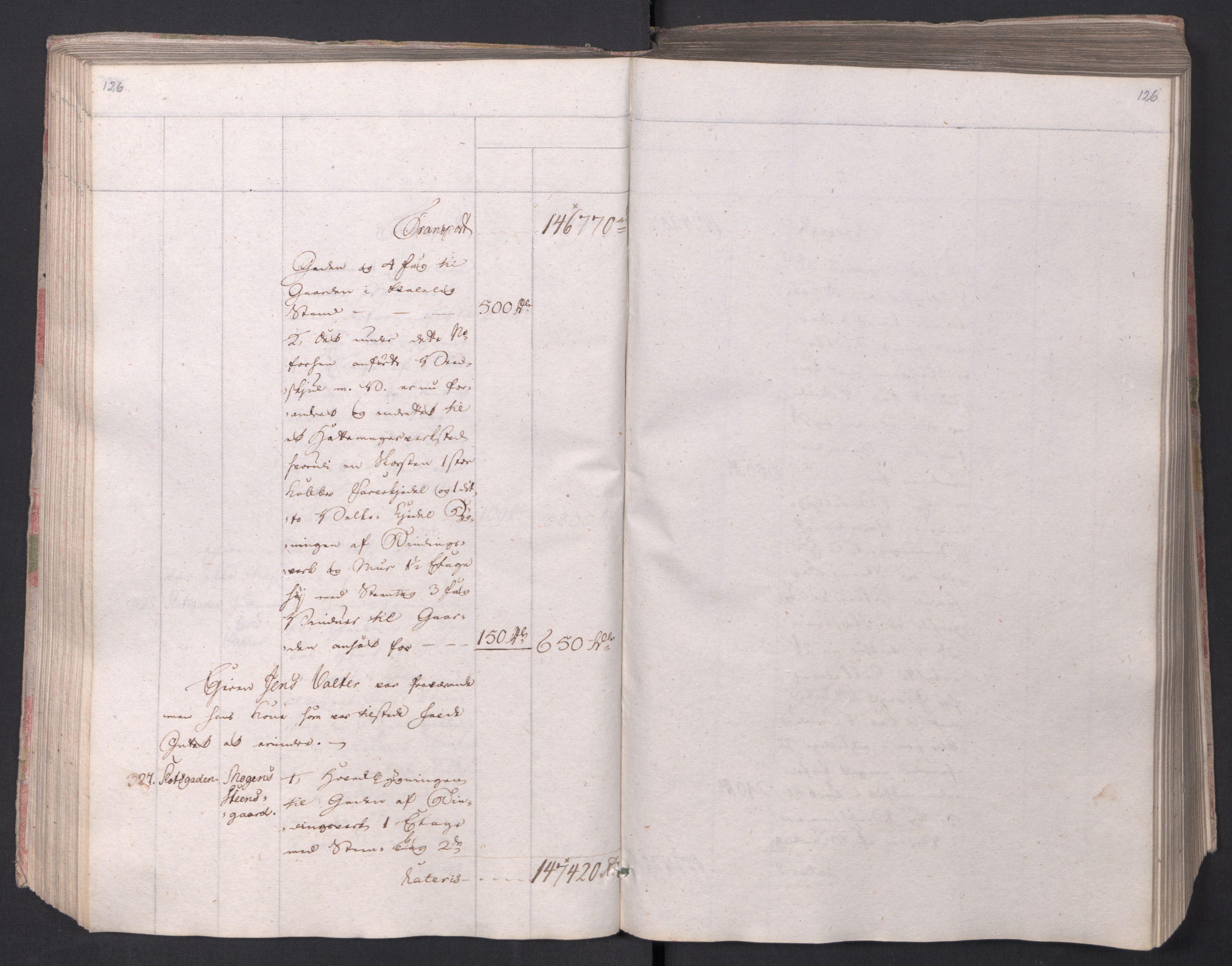 SAO, Kristiania stiftamt, I/Ia/L0015: Branntakster, 1797, s. 126