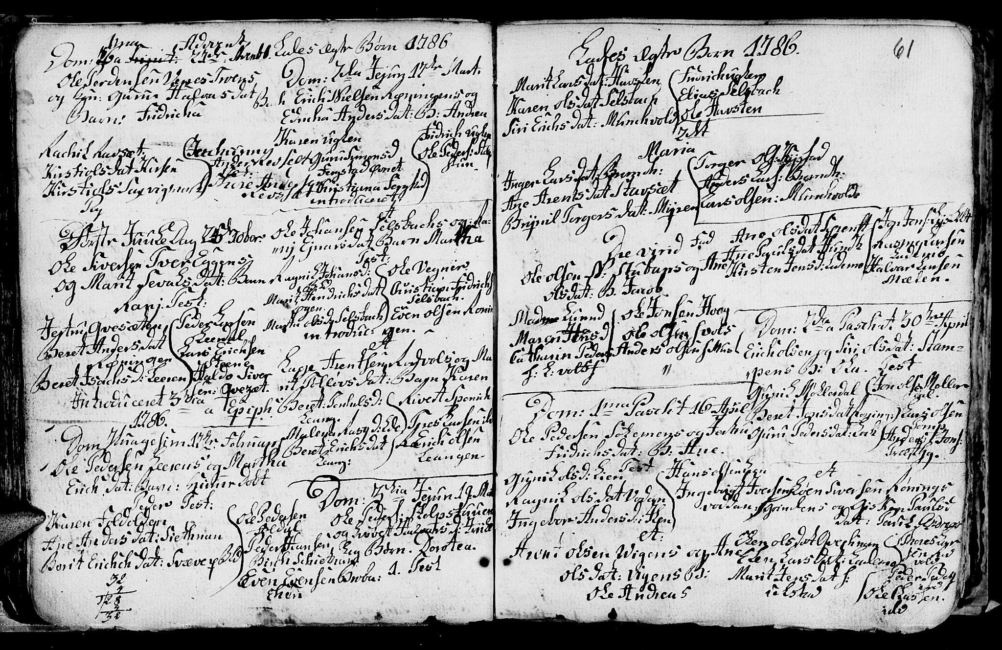 SAT, Ministerialprotokoller, klokkerbøker og fødselsregistre - Sør-Trøndelag, 606/L0305: Klokkerbok nr. 606C01, 1757-1819, s. 61