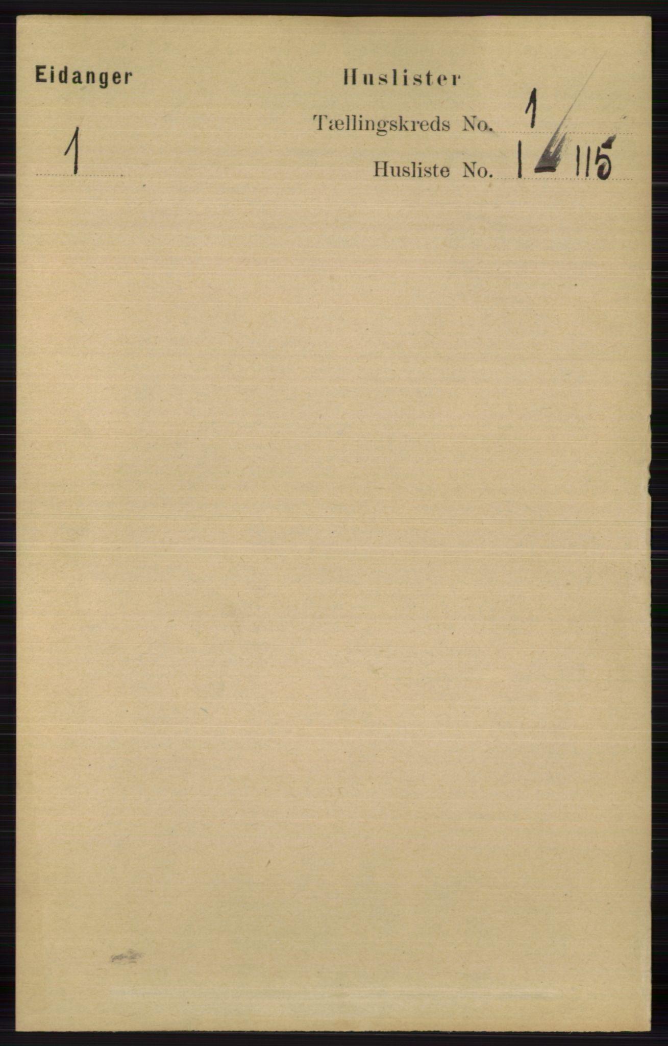 RA, Folketelling 1891 for 0813 Eidanger herred, 1891, s. 31