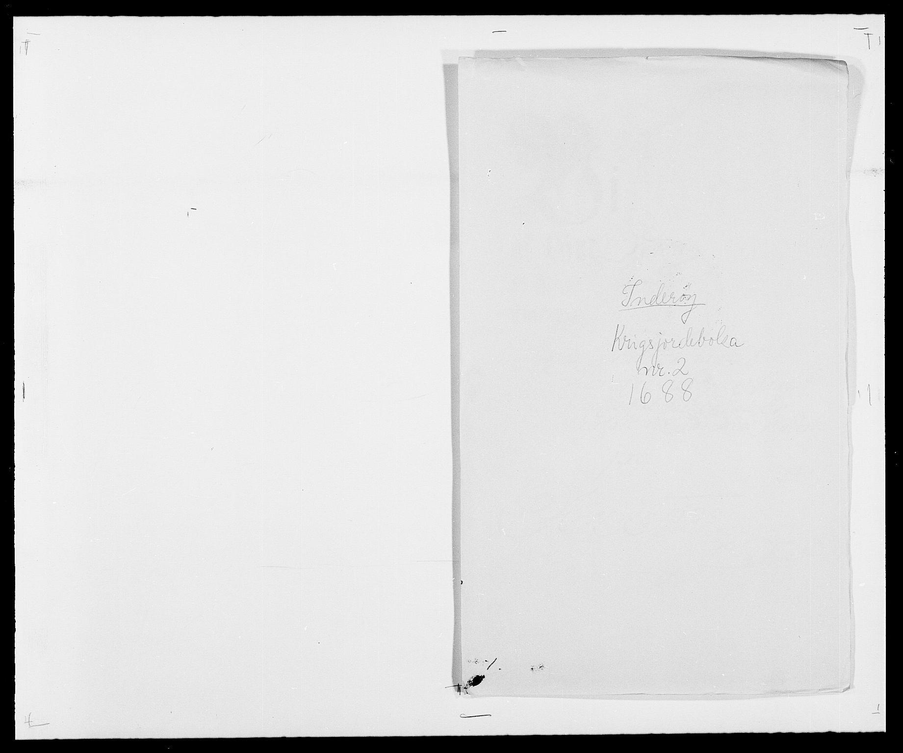 RA, Rentekammeret inntil 1814, Reviderte regnskaper, Fogderegnskap, R63/L4306: Fogderegnskap Inderøy, 1687-1689, s. 363