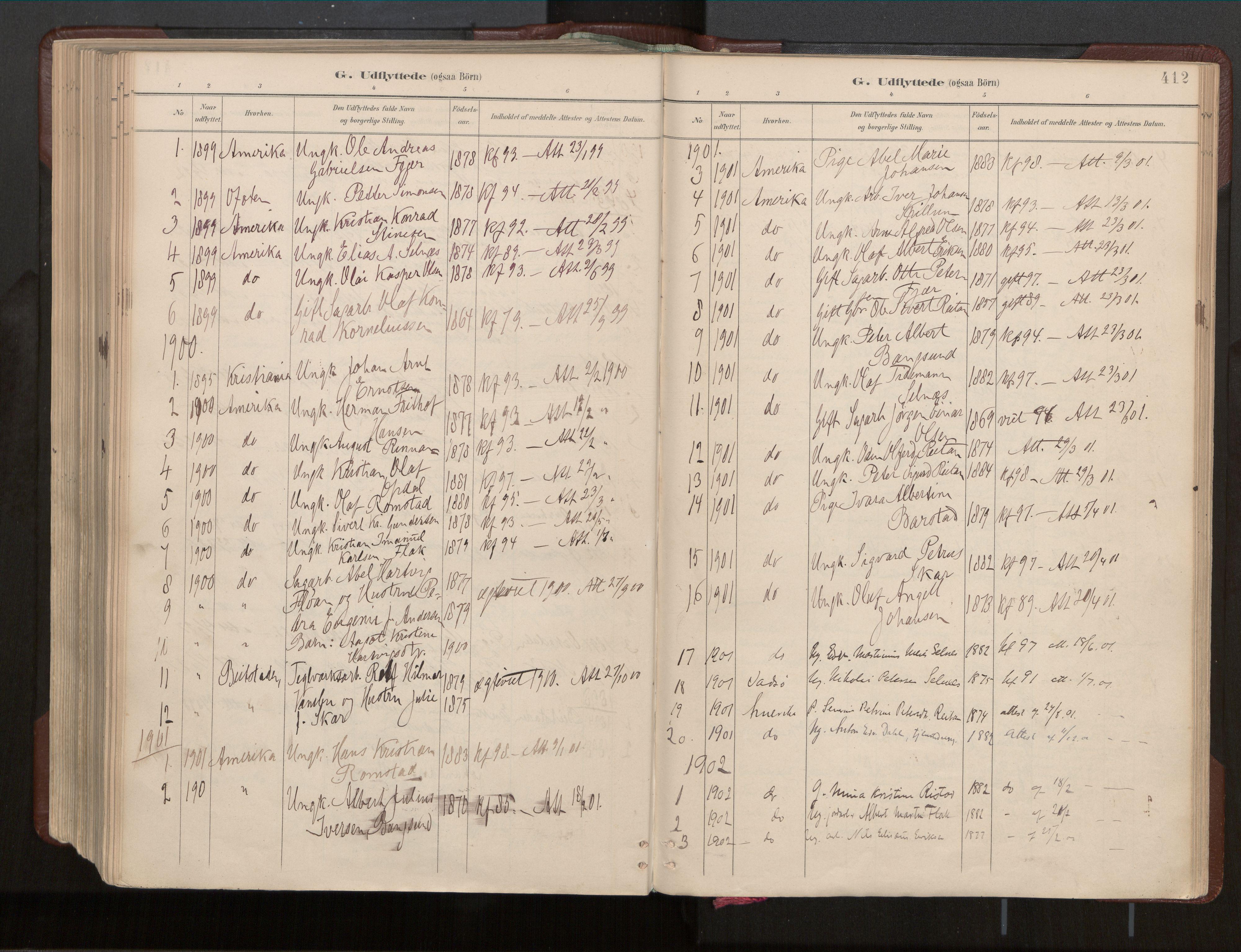 SAT, Ministerialprotokoller, klokkerbøker og fødselsregistre - Nord-Trøndelag, 770/L0589: Ministerialbok nr. 770A03, 1887-1929, s. 412