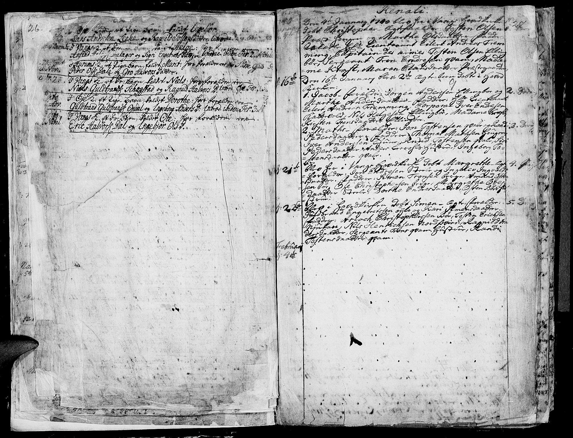 SAH, Vang prestekontor, Valdres, Ministerialbok nr. 1, 1730-1796, s. 26-27