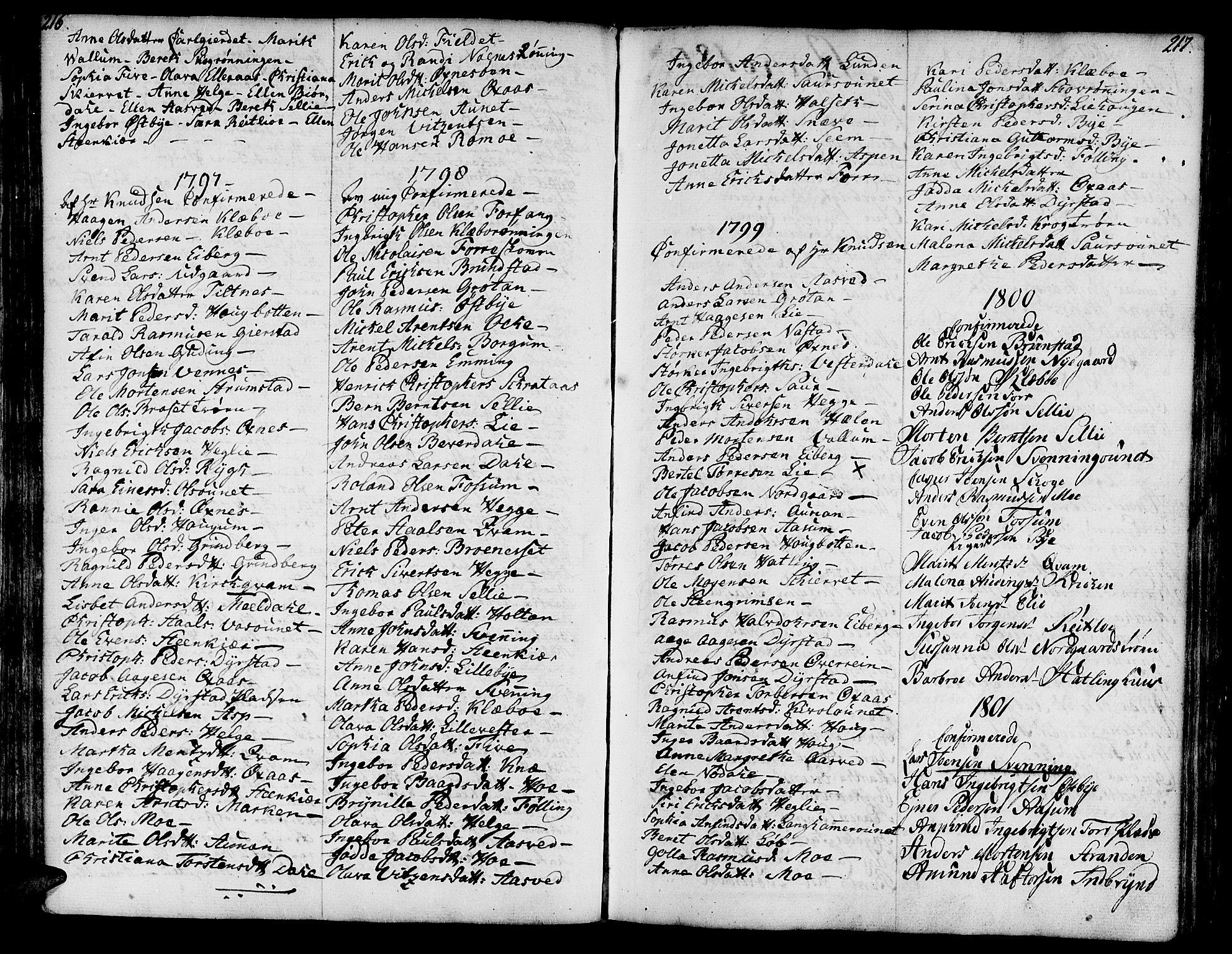 SAT, Ministerialprotokoller, klokkerbøker og fødselsregistre - Nord-Trøndelag, 746/L0440: Ministerialbok nr. 746A02, 1760-1815, s. 216-217