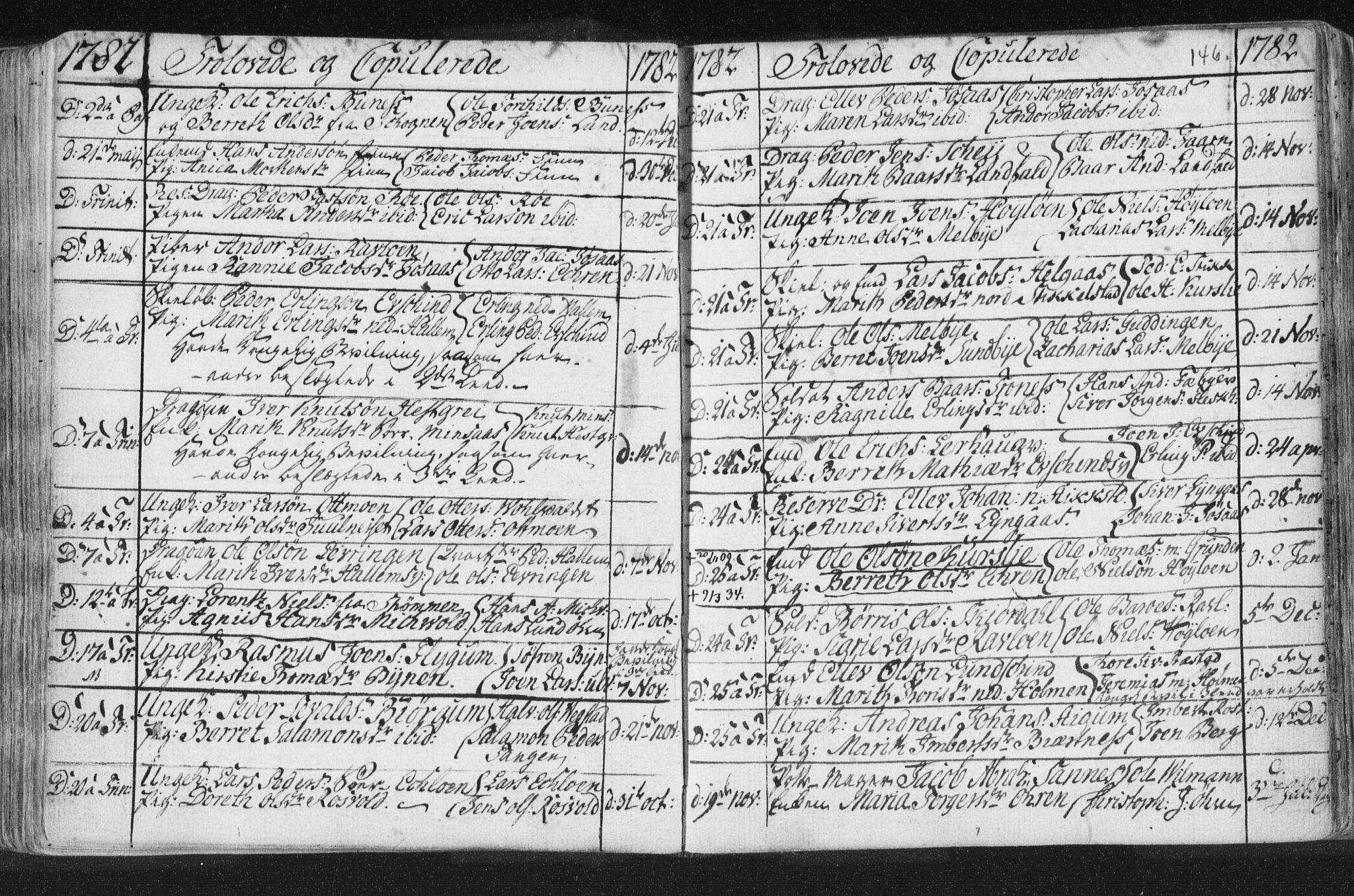 SAT, Ministerialprotokoller, klokkerbøker og fødselsregistre - Nord-Trøndelag, 723/L0232: Ministerialbok nr. 723A03, 1781-1804, s. 146