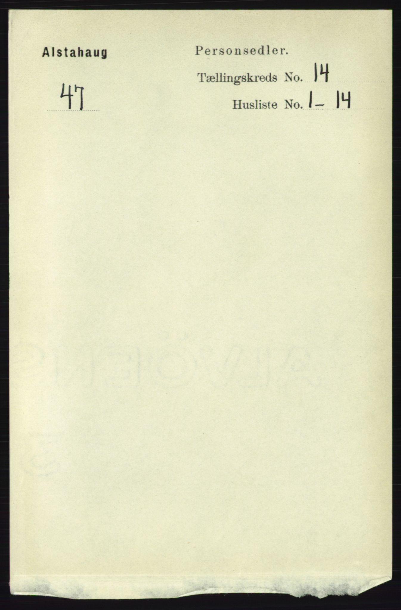 RA, Folketelling 1891 for 1820 Alstahaug herred, 1891, s. 4933