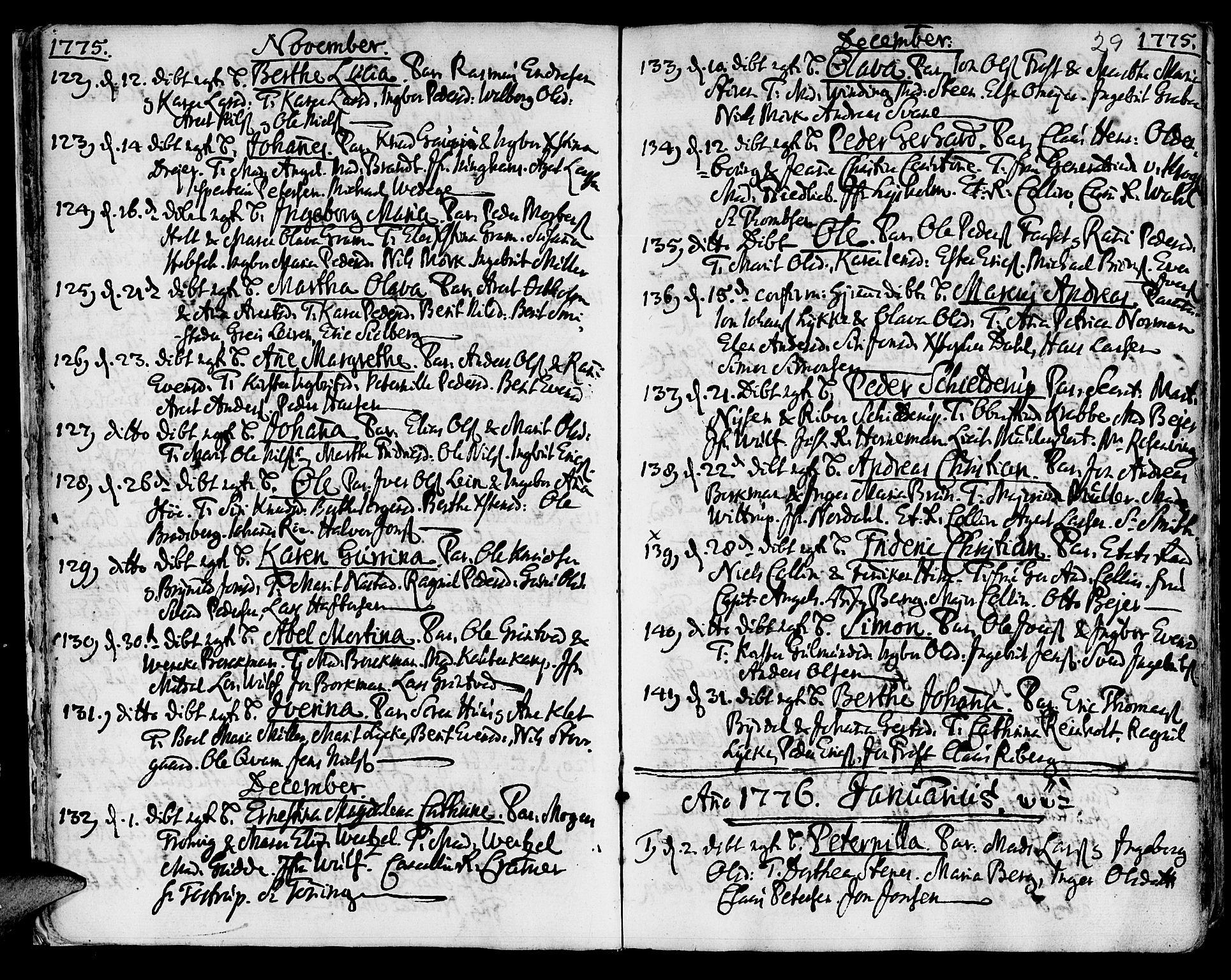 SAT, Ministerialprotokoller, klokkerbøker og fødselsregistre - Sør-Trøndelag, 601/L0039: Ministerialbok nr. 601A07, 1770-1819, s. 29