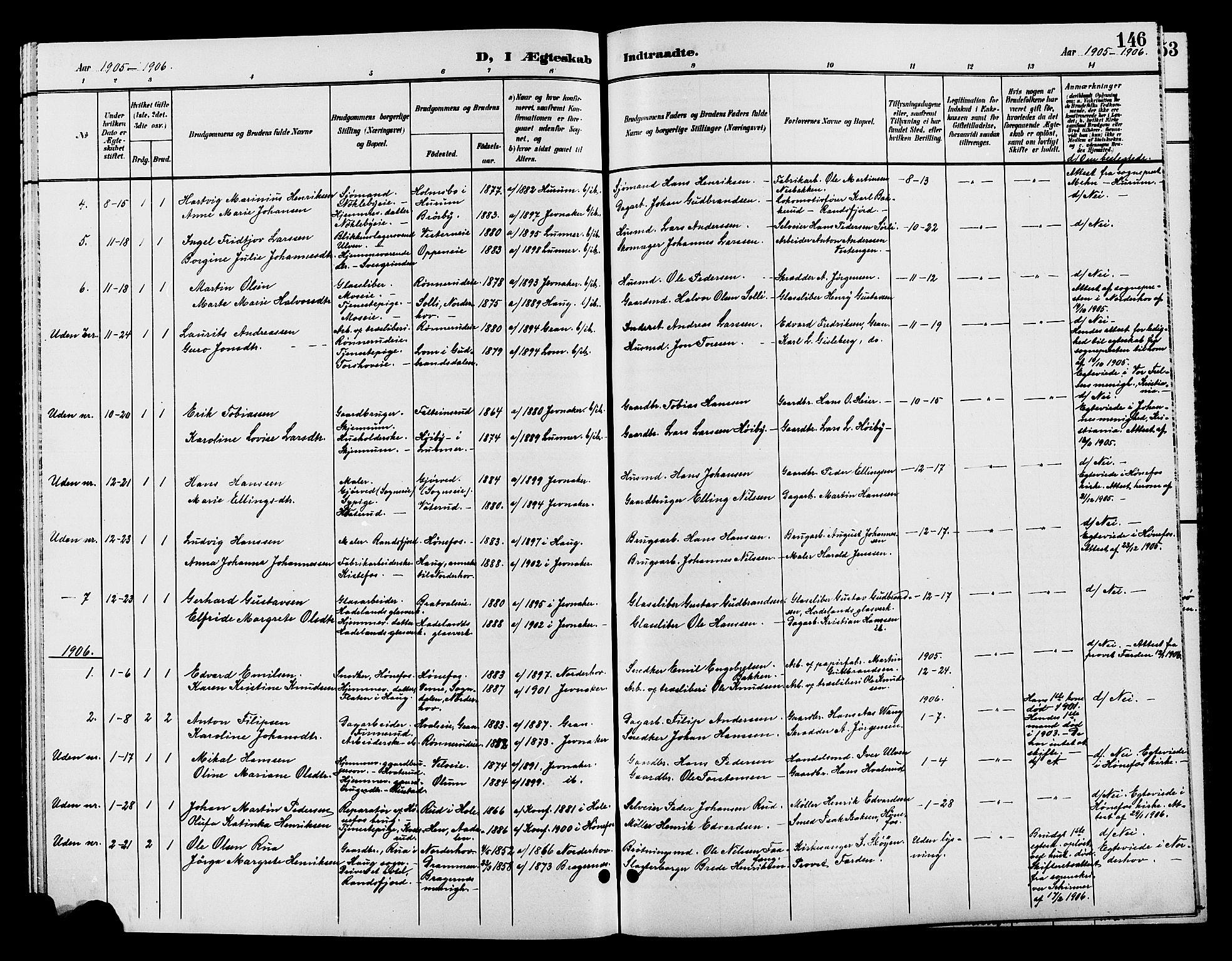 SAH, Jevnaker prestekontor, Klokkerbok nr. 2, 1896-1906, s. 146