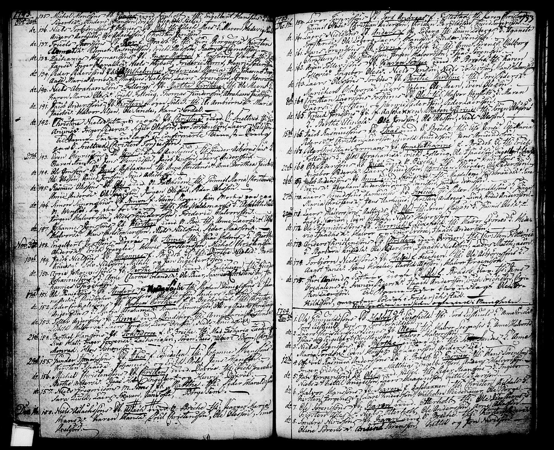 SAKO, Gjerpen kirkebøker, F/Fa/L0002: Ministerialbok nr. 2, 1747-1795, s. 133