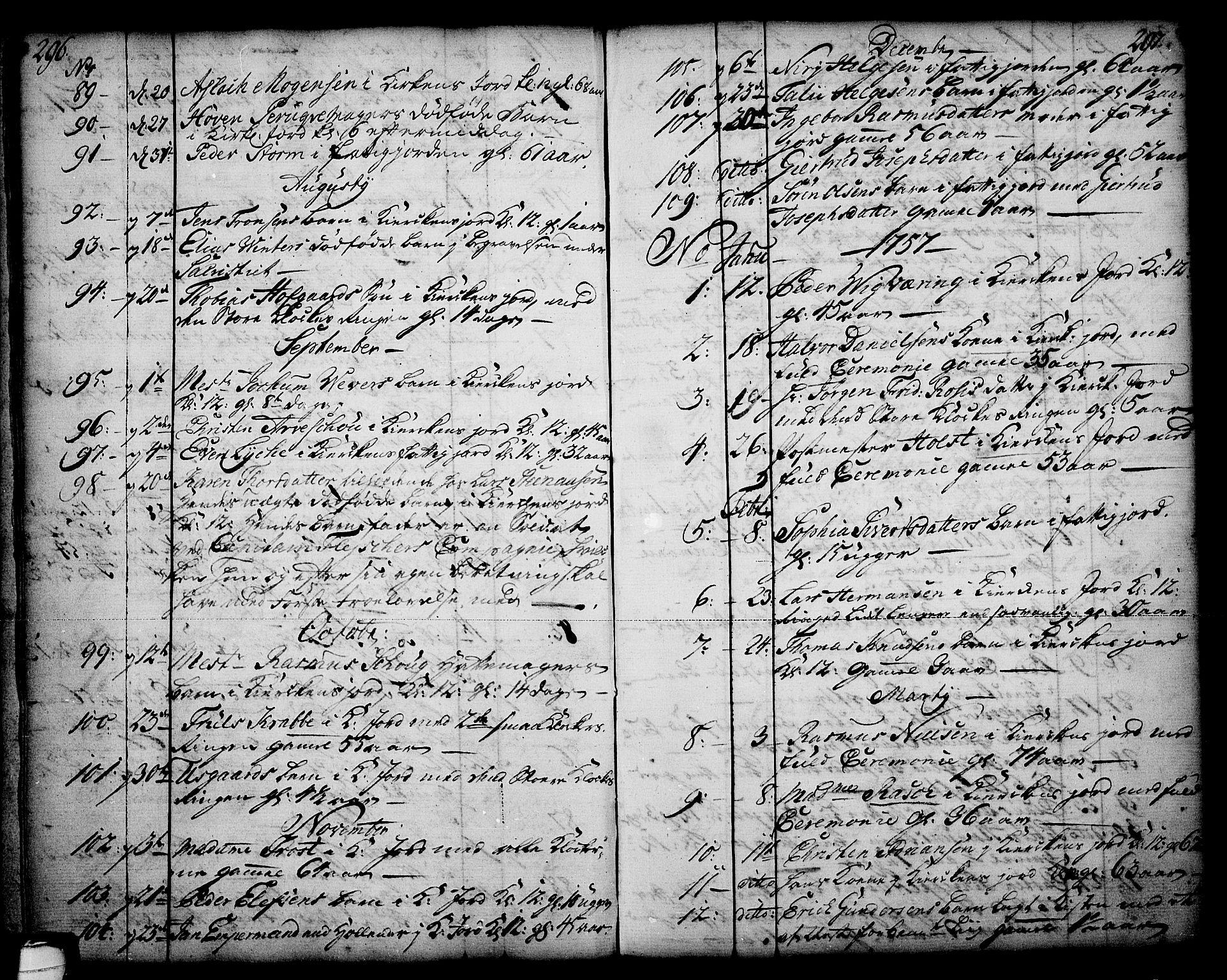 SAKO, Skien kirkebøker, F/Fa/L0003: Ministerialbok nr. 3, 1755-1791, s. 296-297