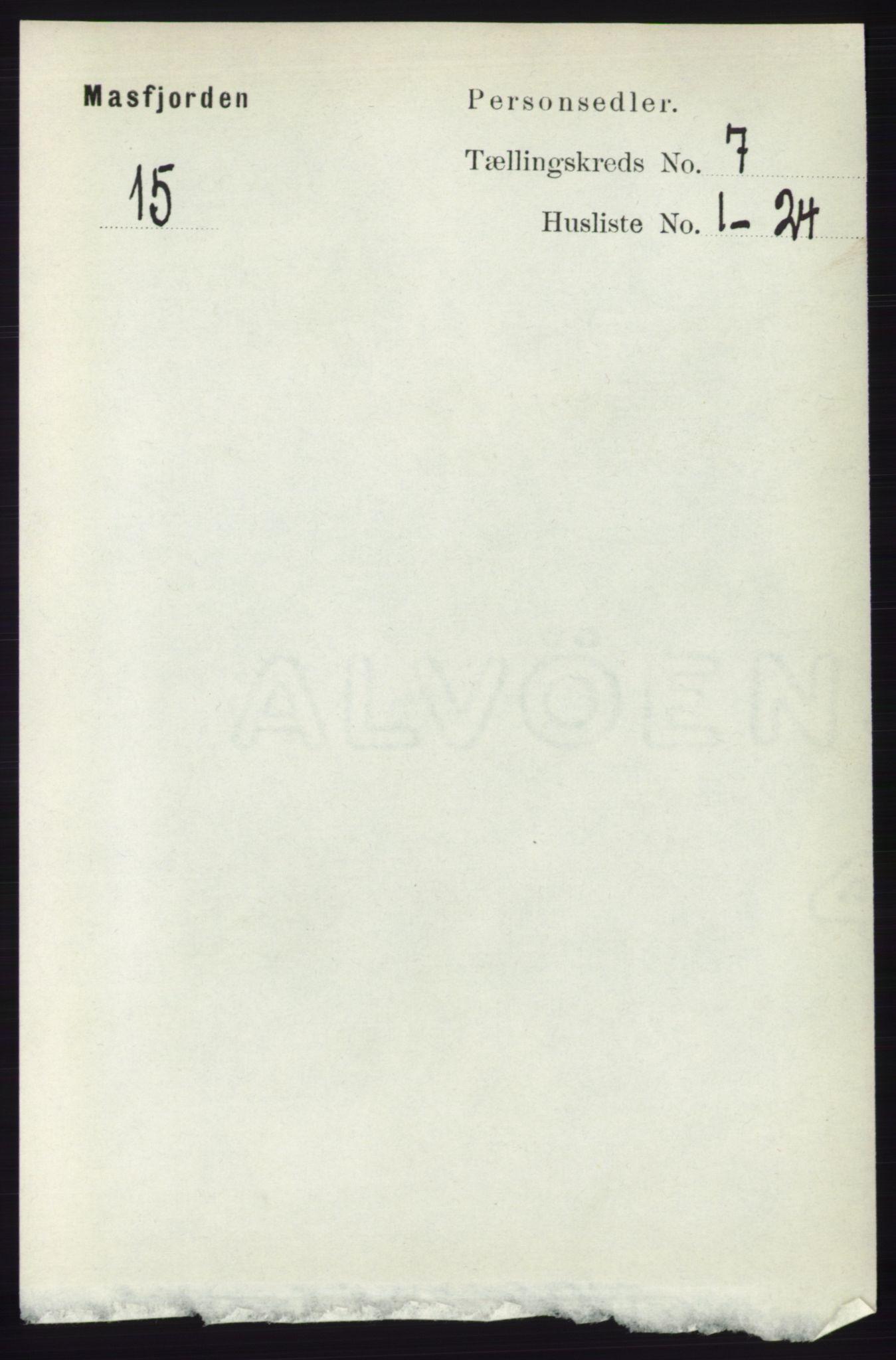 RA, Folketelling 1891 for 1266 Masfjorden herred, 1891, s. 1180