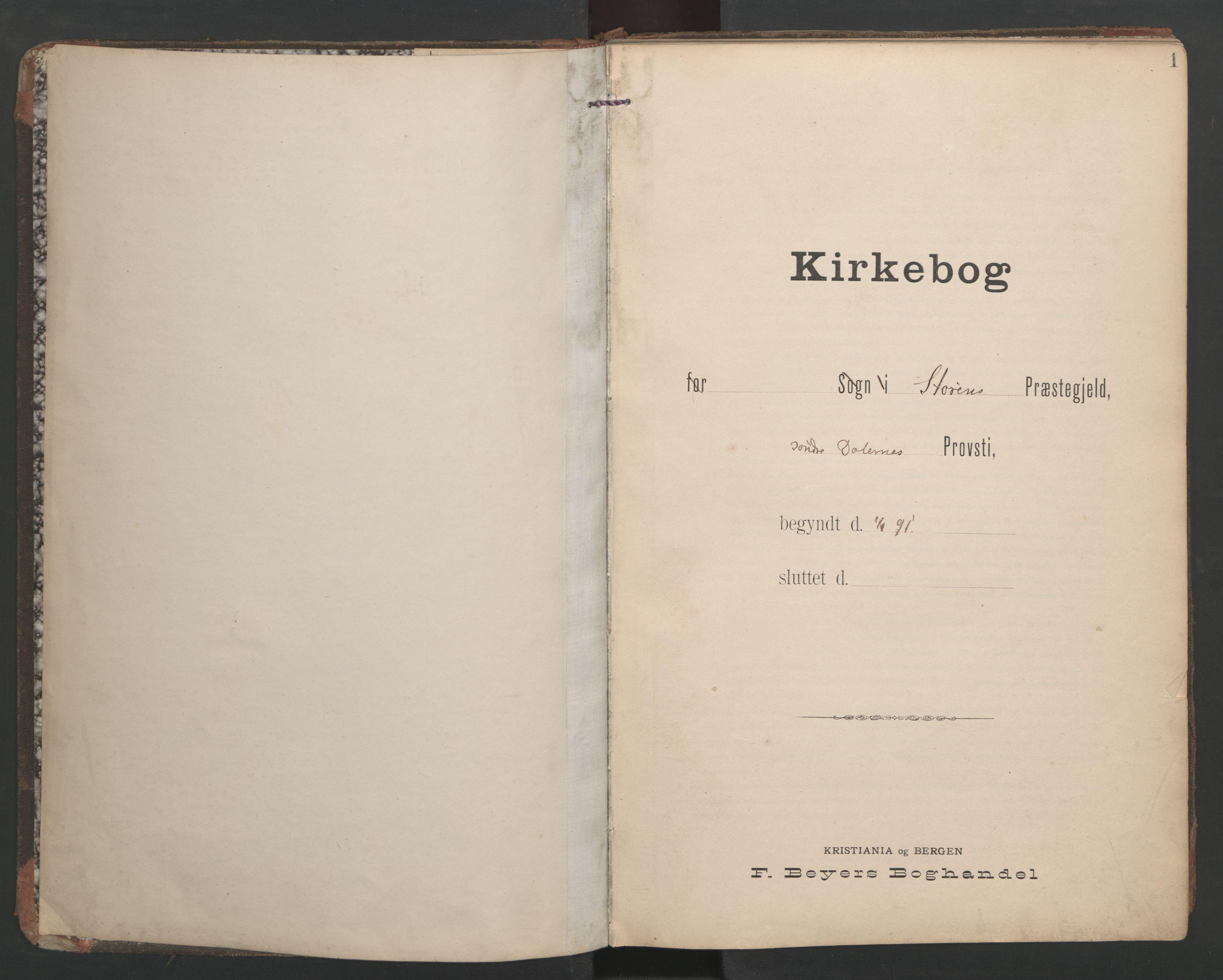 SAT, Ministerialprotokoller, klokkerbøker og fødselsregistre - Sør-Trøndelag, 687/L1005: Dagregister nr. 687A11, 1891-1912, s. 1