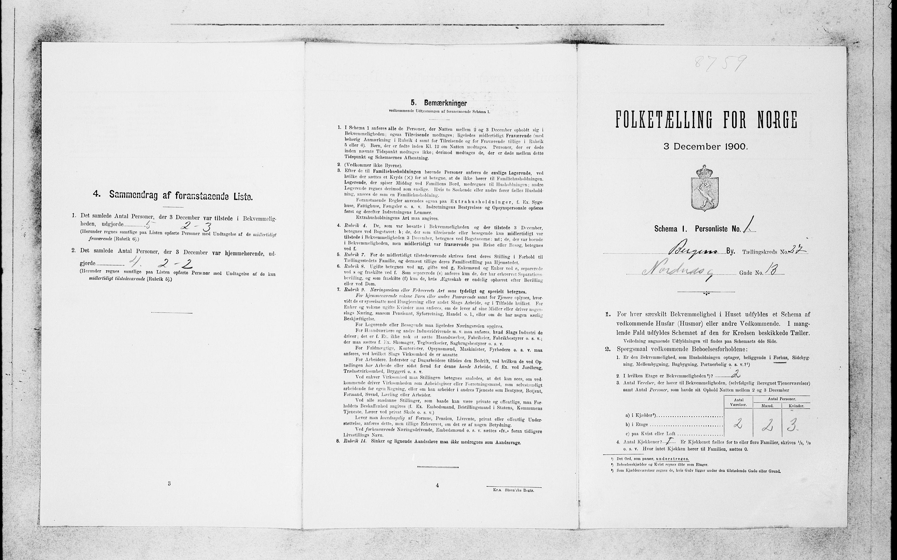SAB, Folketelling 1900 for 1301 Bergen kjøpstad, 1900, s. 5680