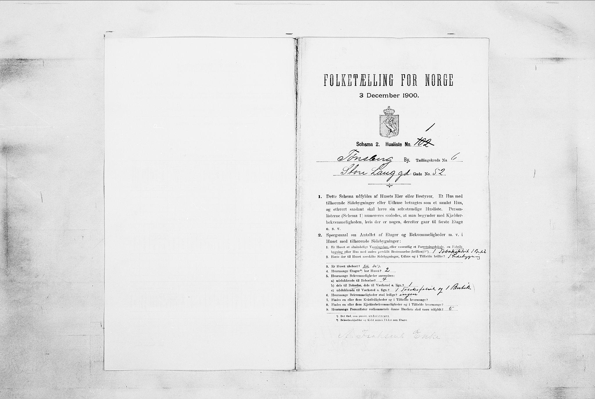 RA, Folketelling 1900 for 0705 Tønsberg kjøpstad, 1900, s. 887