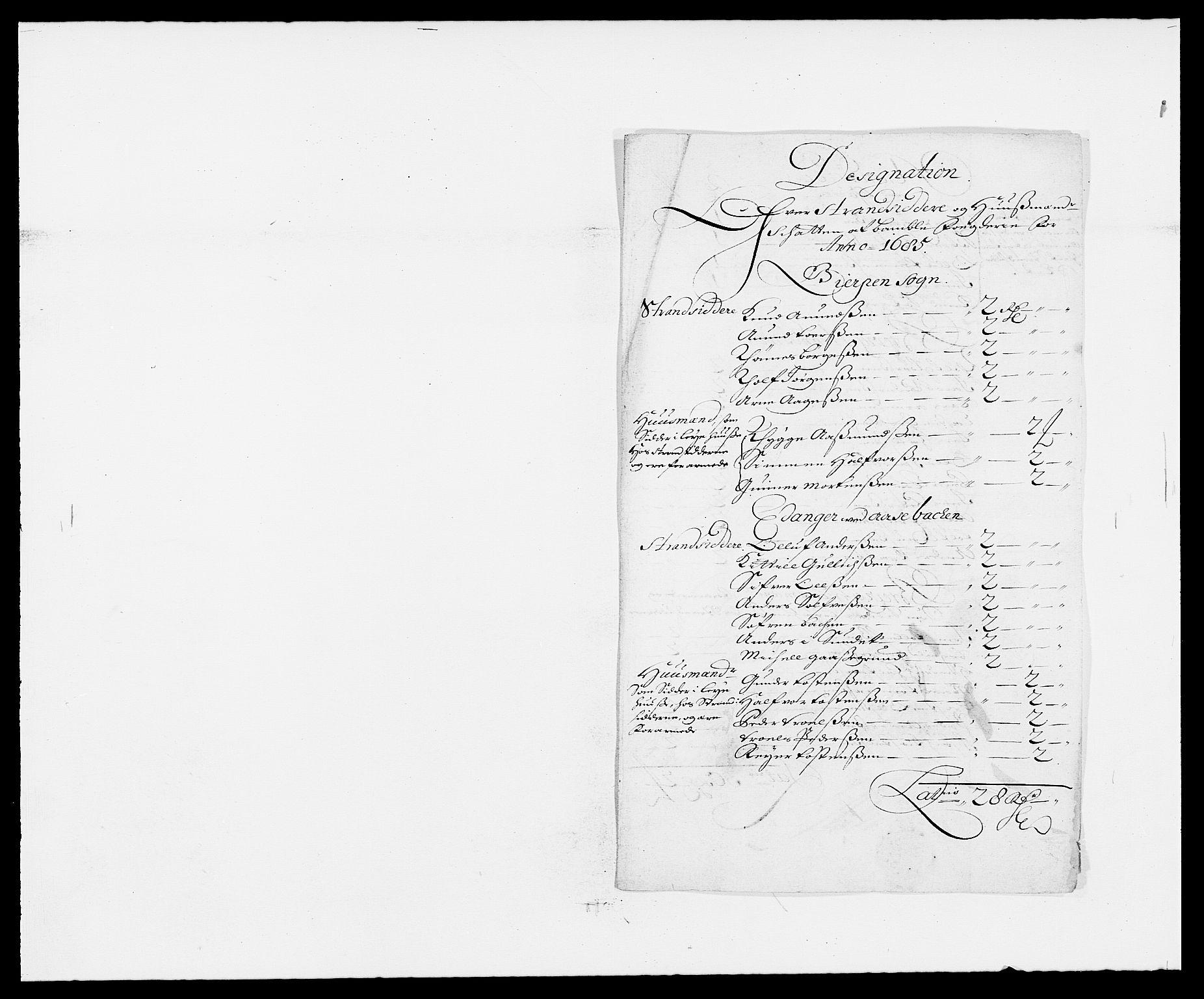 RA, Rentekammeret inntil 1814, Reviderte regnskaper, Fogderegnskap, R34/L2048: Fogderegnskap Bamble, 1685-1687, s. 94
