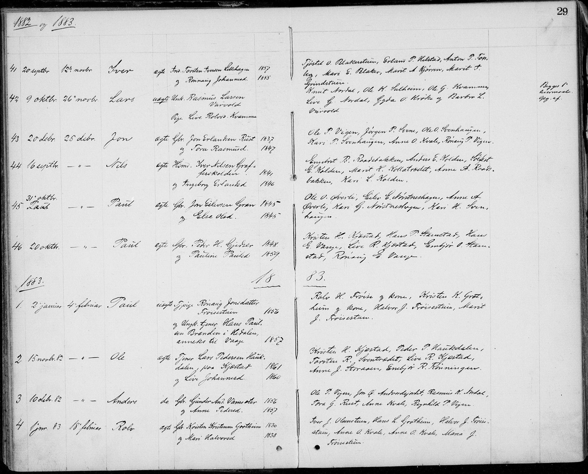 SAH, Lom prestekontor, L/L0013: Klokkerbok nr. 13, 1874-1938, s. 29
