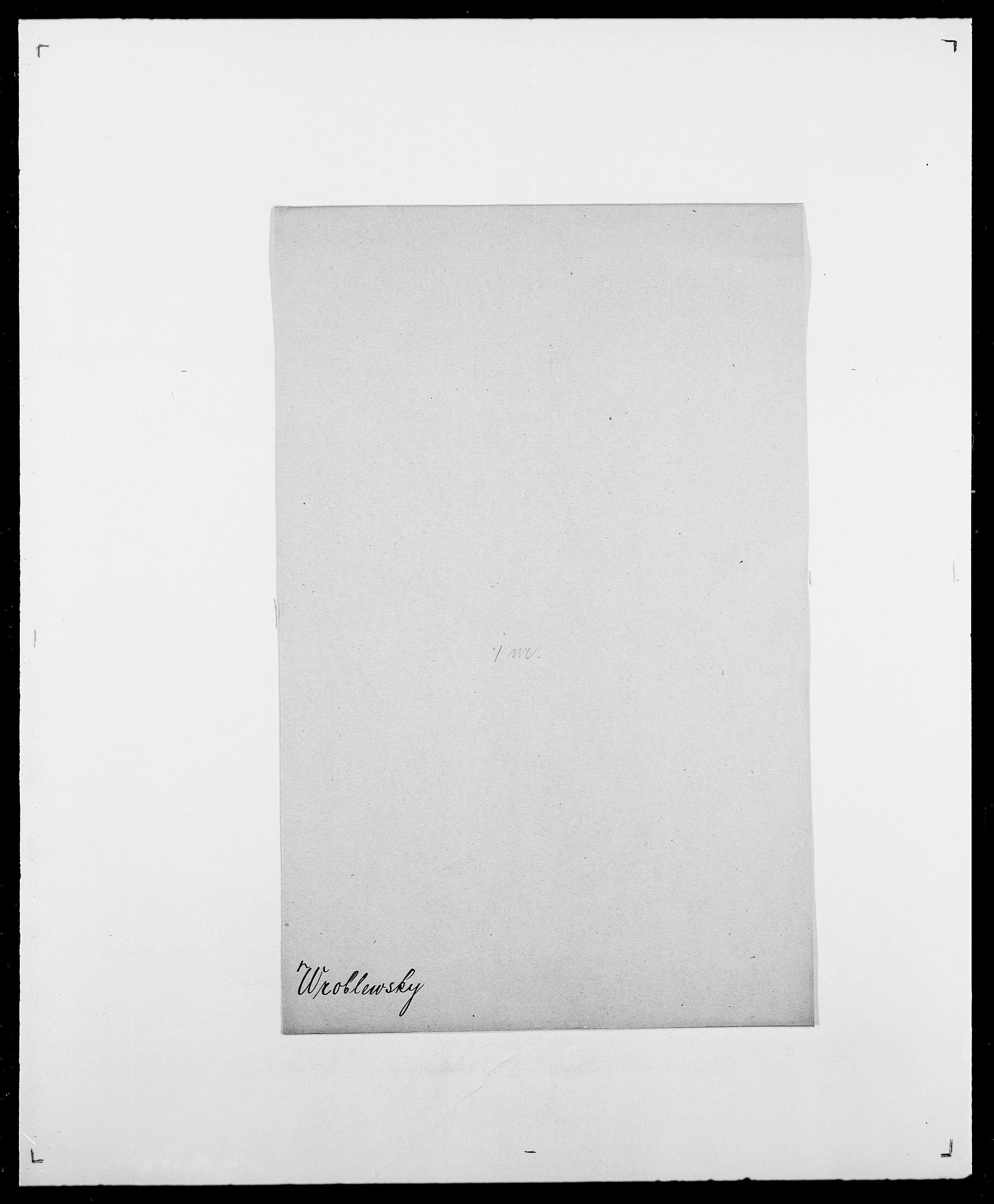 SAO, Delgobe, Charles Antoine - samling, D/Da/L0042: Vilain - Wulf, Wulff, se også Wolf, s. 786