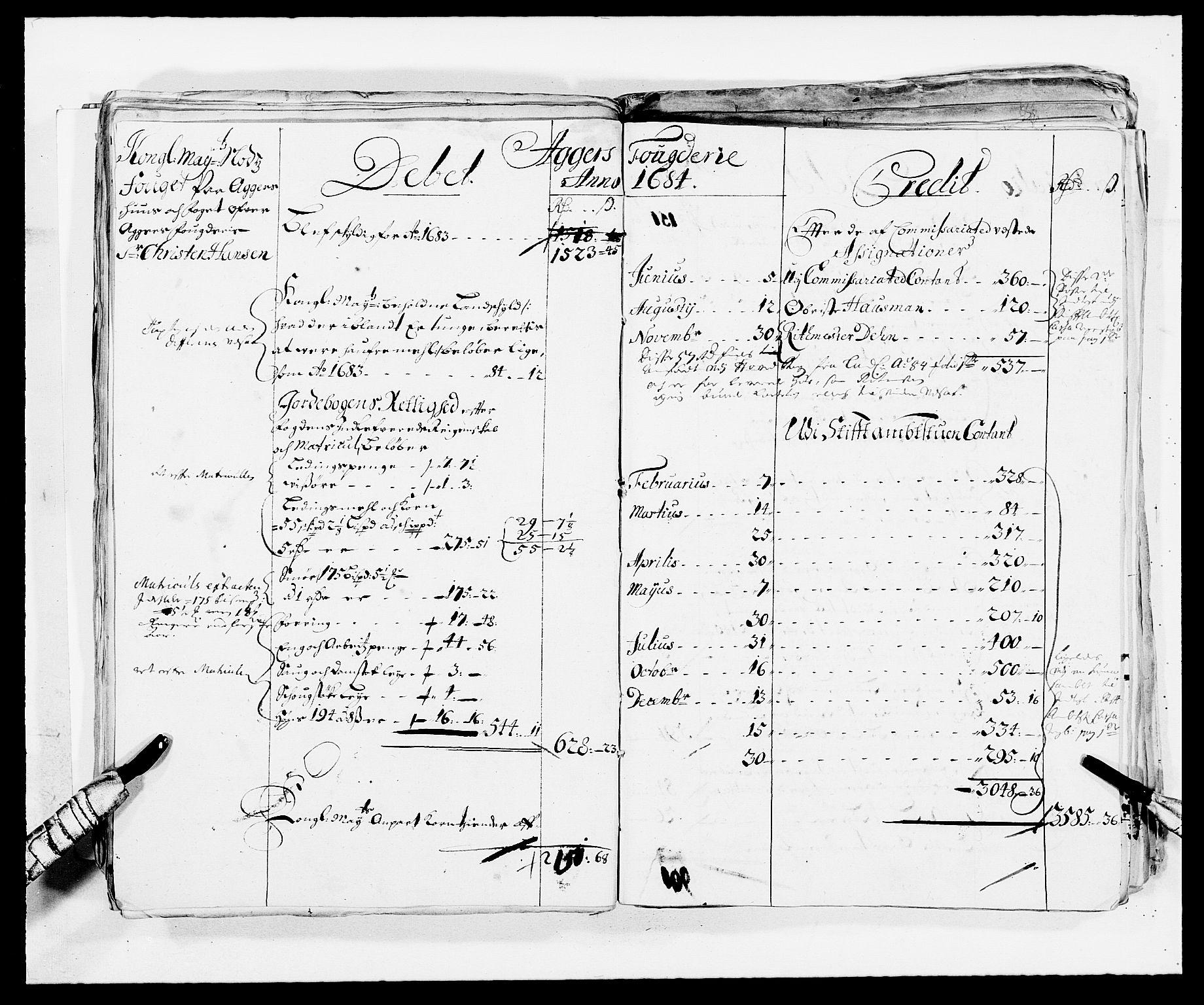 RA, Rentekammeret inntil 1814, Reviderte regnskaper, Fogderegnskap, R08/L0420: Fogderegnskap Aker, 1682-1691, s. 31