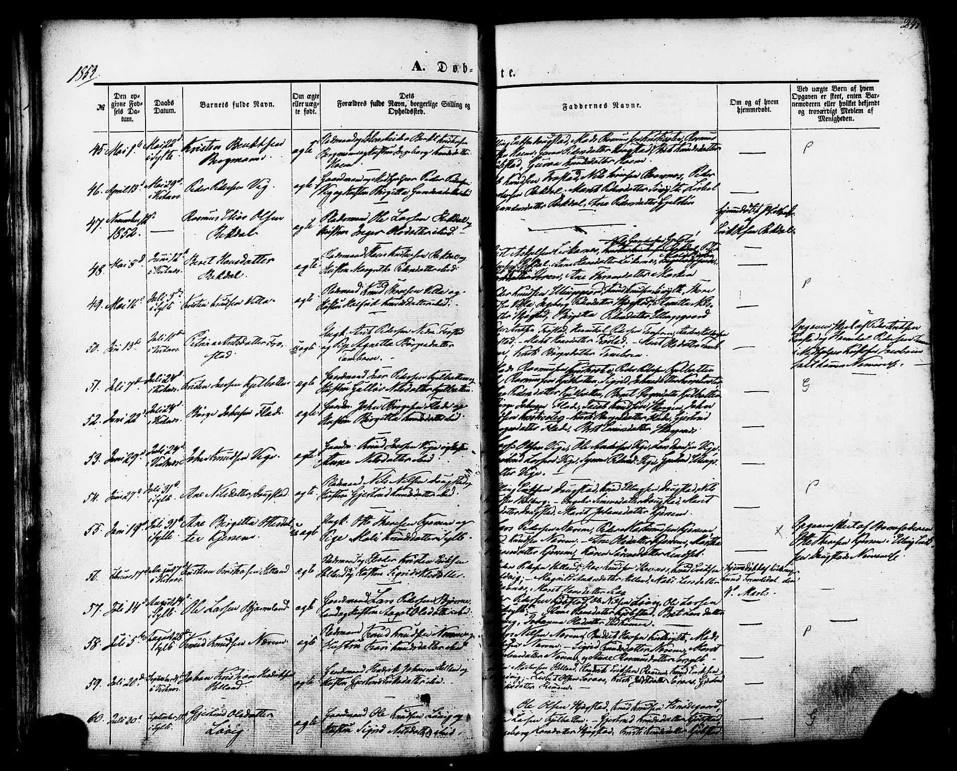 SAT, Ministerialprotokoller, klokkerbøker og fødselsregistre - Møre og Romsdal, 539/L0529: Ministerialbok nr. 539A02, 1848-1872, s. 24