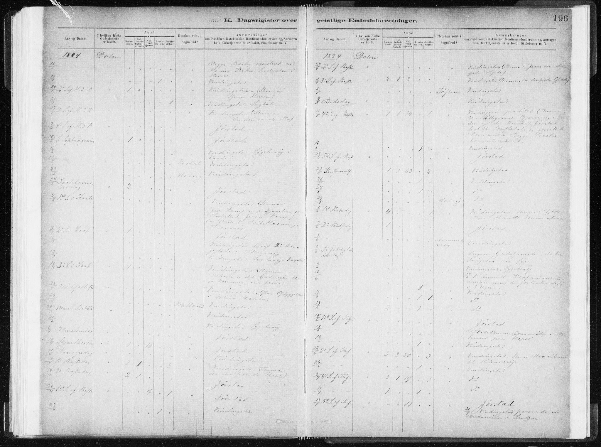 SAT, Ministerialprotokoller, klokkerbøker og fødselsregistre - Sør-Trøndelag, 634/L0533: Ministerialbok nr. 634A09, 1882-1901, s. 196