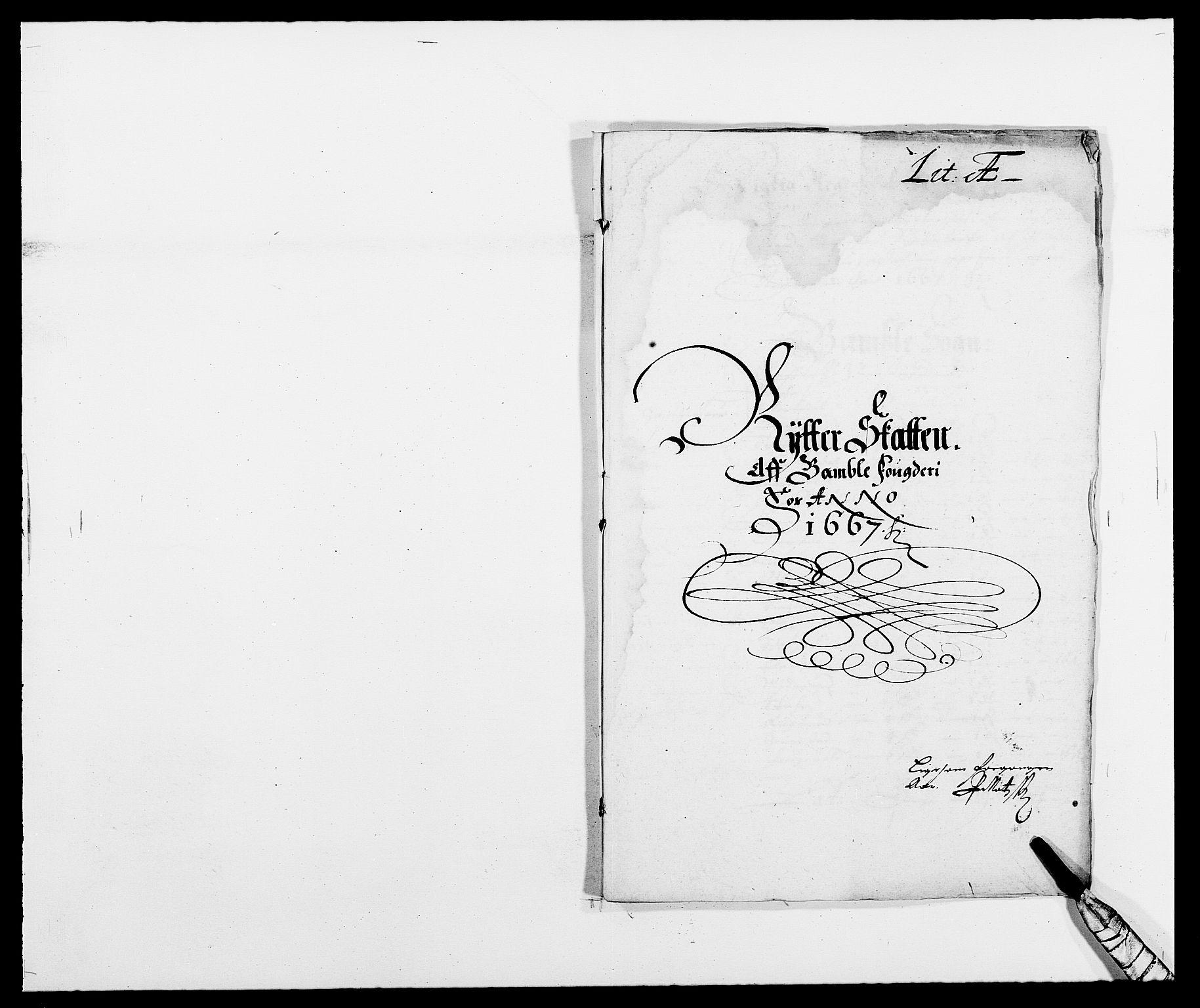 RA, Rentekammeret inntil 1814, Reviderte regnskaper, Fogderegnskap, R34/L2039: Fogderegnskap Bamble, 1662-1669, s. 200