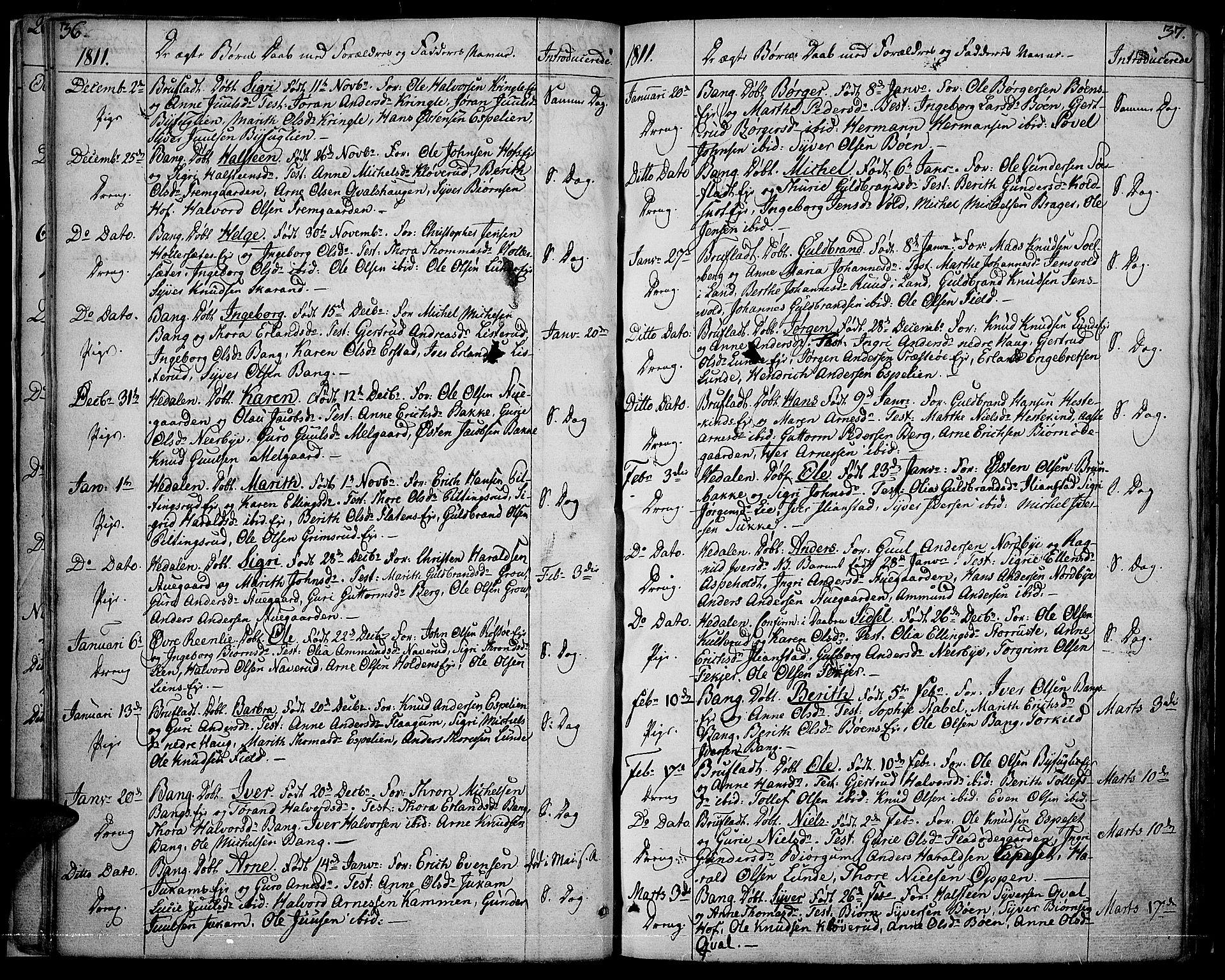 SAH, Sør-Aurdal prestekontor, Ministerialbok nr. 1, 1807-1815, s. 36-37