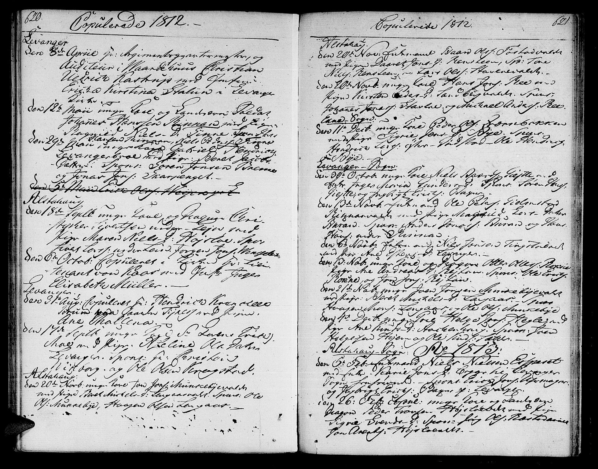 SAT, Ministerialprotokoller, klokkerbøker og fødselsregistre - Nord-Trøndelag, 717/L0145: Ministerialbok nr. 717A03 /1, 1810-1815, s. 620-621