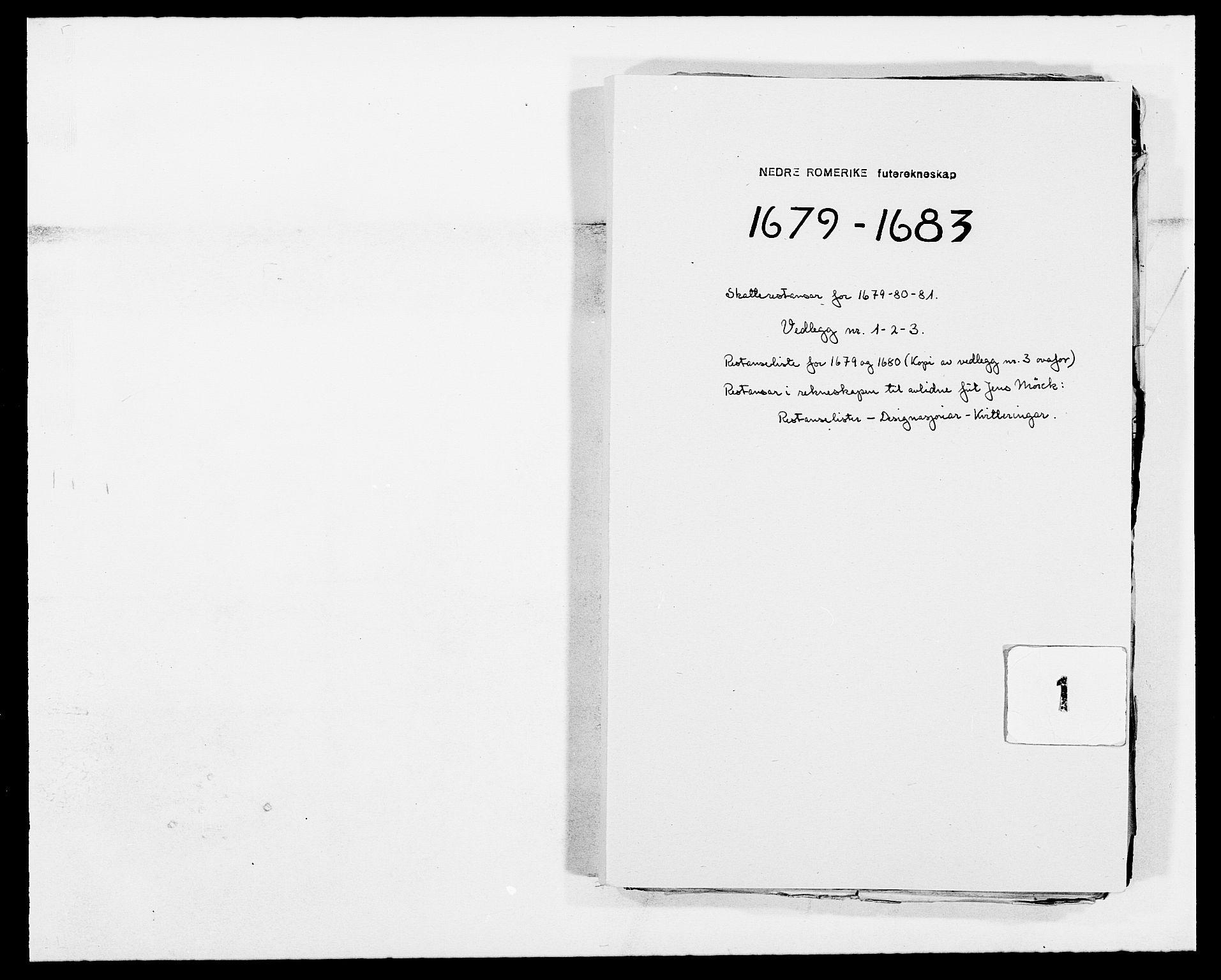 RA, Rentekammeret inntil 1814, Reviderte regnskaper, Fogderegnskap, R11/L0573: Fogderegnskap Nedre Romerike, 1679-1688, s. 195