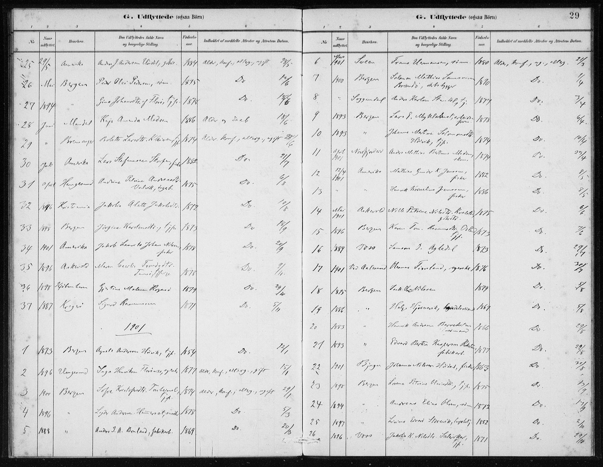 SAB, Kinn Sokneprestembete, Ministerialbok nr. D 1, 1883-1922, s. 29