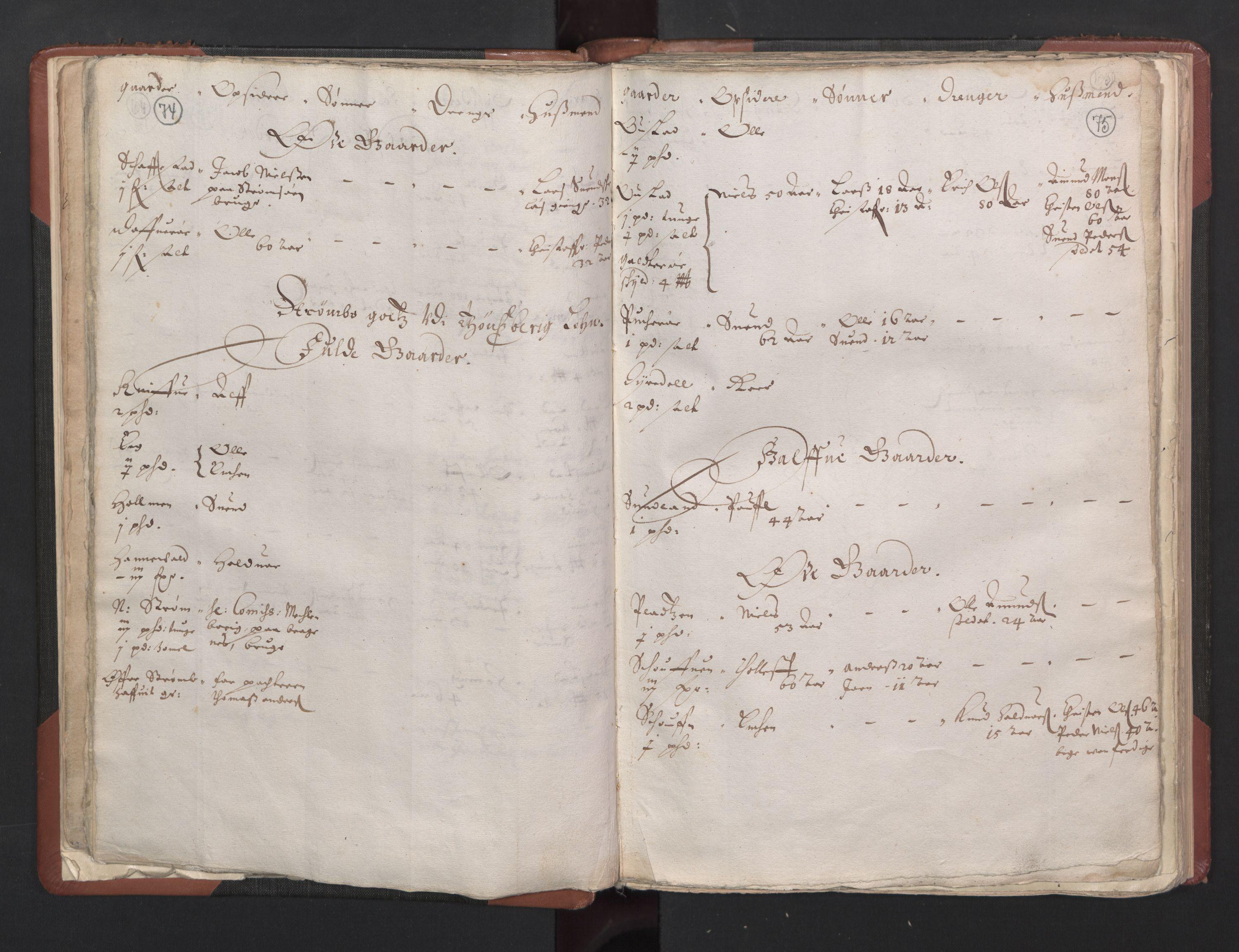 RA, Fogdenes og sorenskrivernes manntall 1664-1666, nr. 5: Fogderier (len og skipreider) i nåværende Buskerud fylke og Vestfold fylke, 1664, s. 74-75