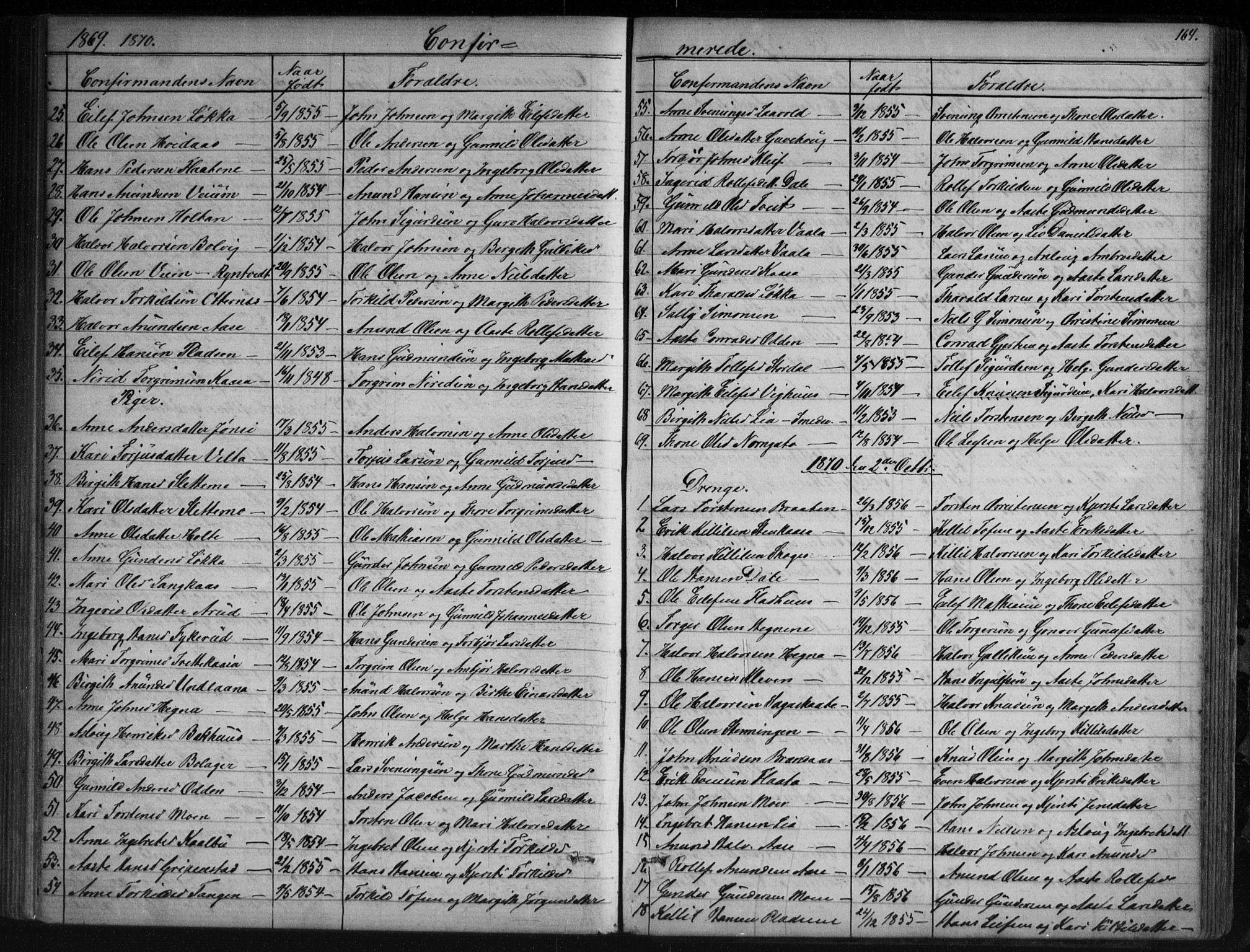 SAKO, Sauherad kirkebøker, G/Ga/L0003: Klokkerbok nr. I 3, 1866-1905, s. 164