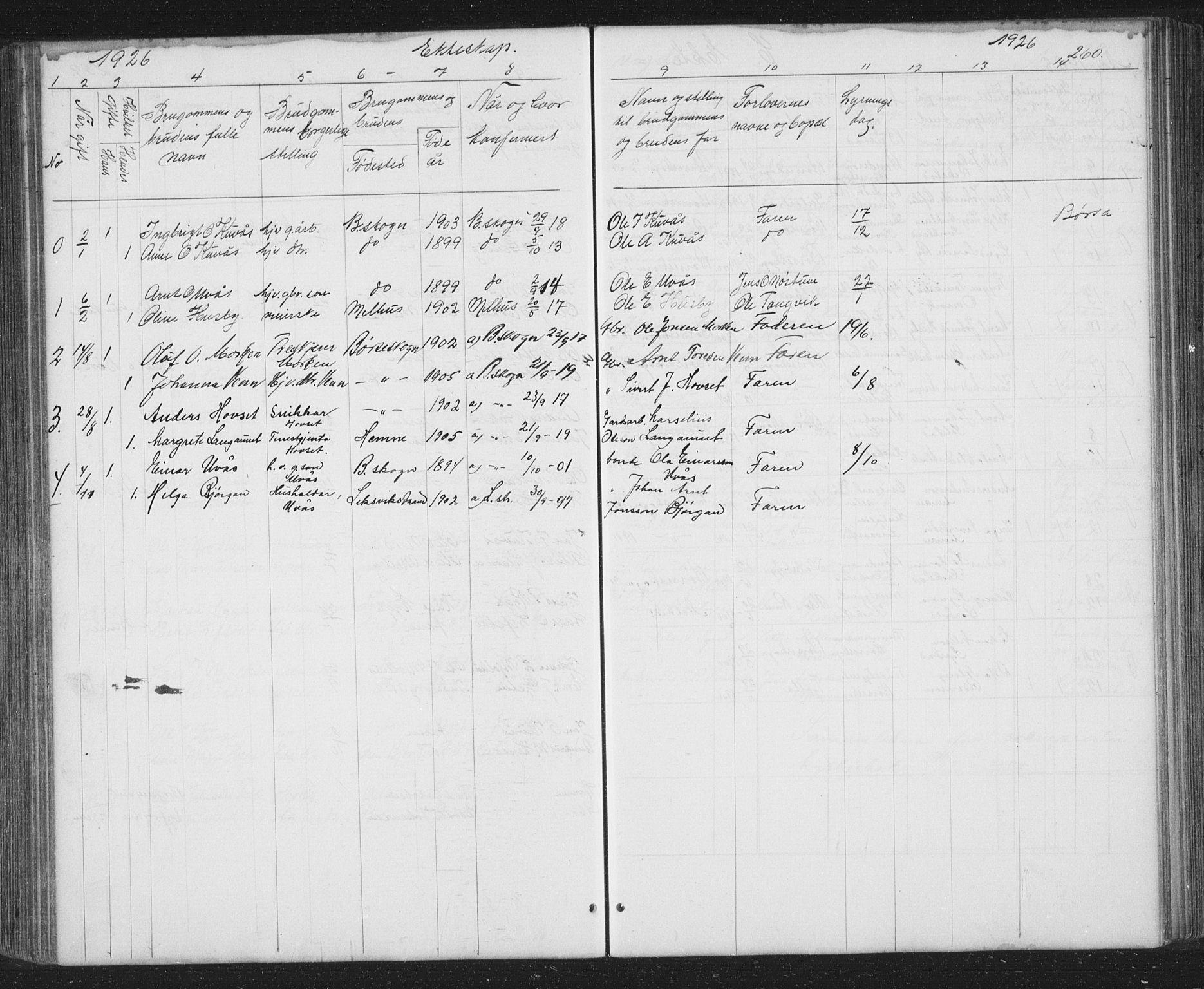 SAT, Ministerialprotokoller, klokkerbøker og fødselsregistre - Sør-Trøndelag, 667/L0798: Klokkerbok nr. 667C03, 1867-1929, s. 260