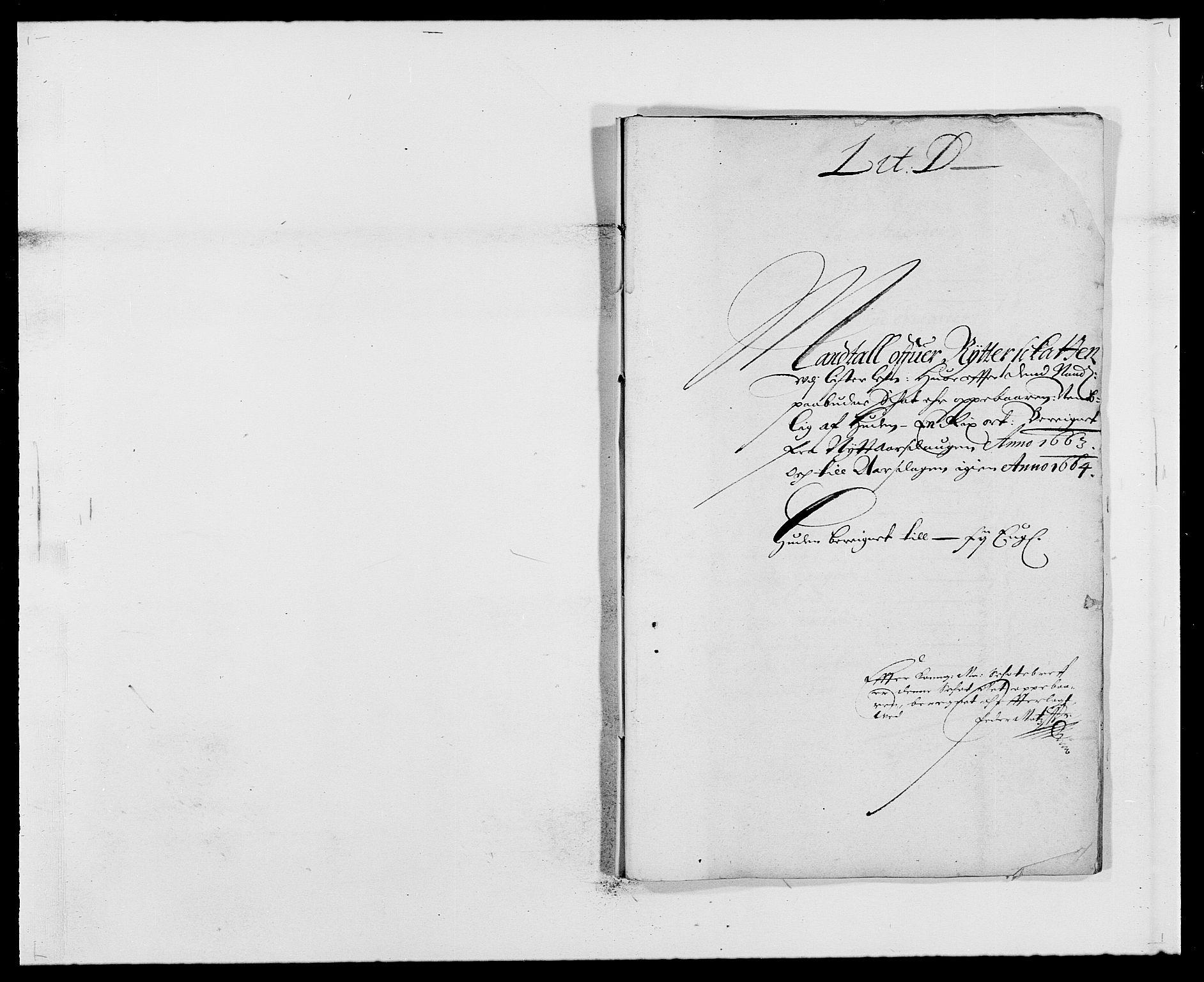 RA, Rentekammeret inntil 1814, Reviderte regnskaper, Fogderegnskap, R41/L2523: Fogderegnskap Lista, 1663-1664, s. 51